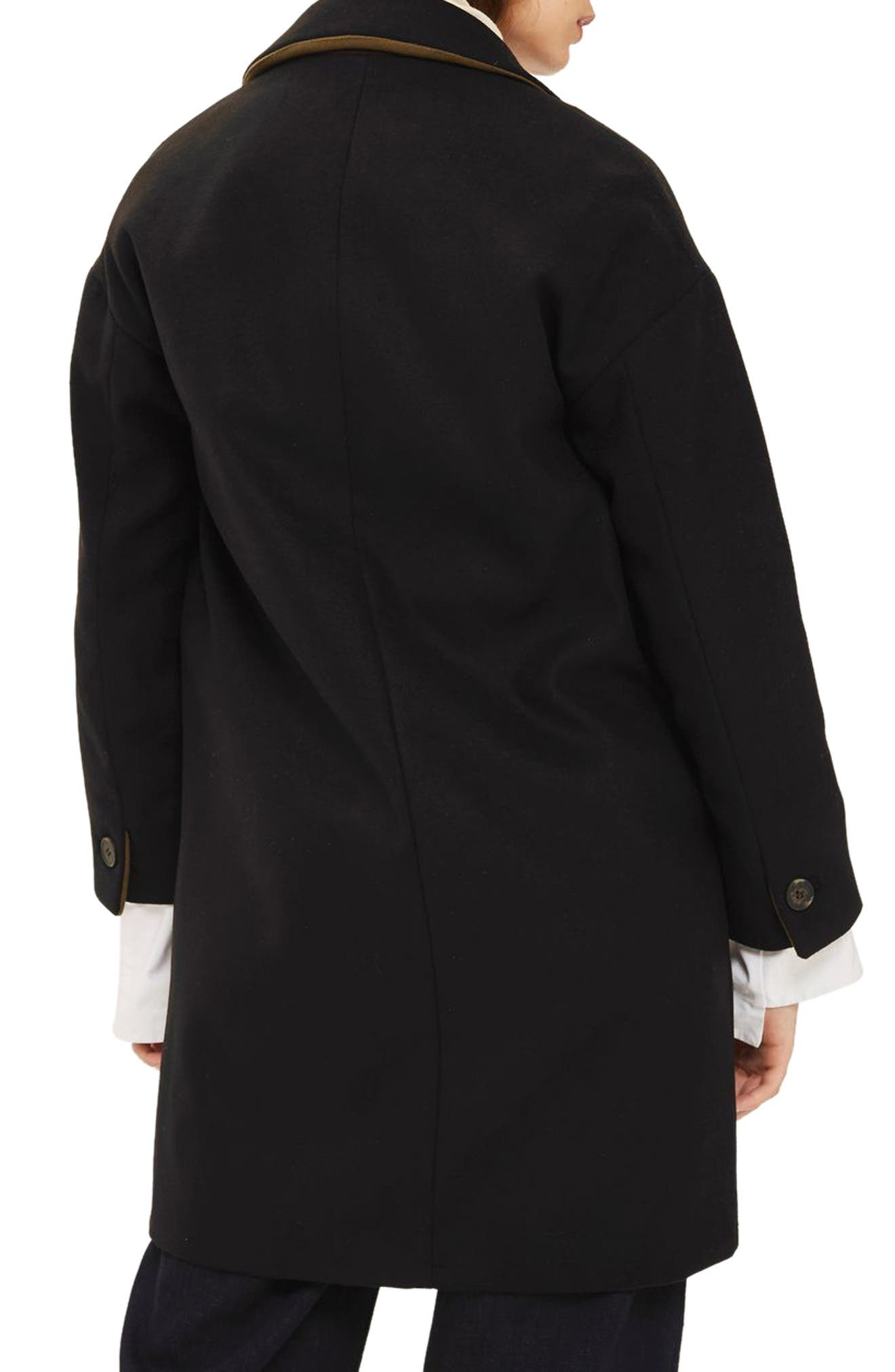 Millie Relaxed Fit Coat,                             Alternate thumbnail 2, color,                             001