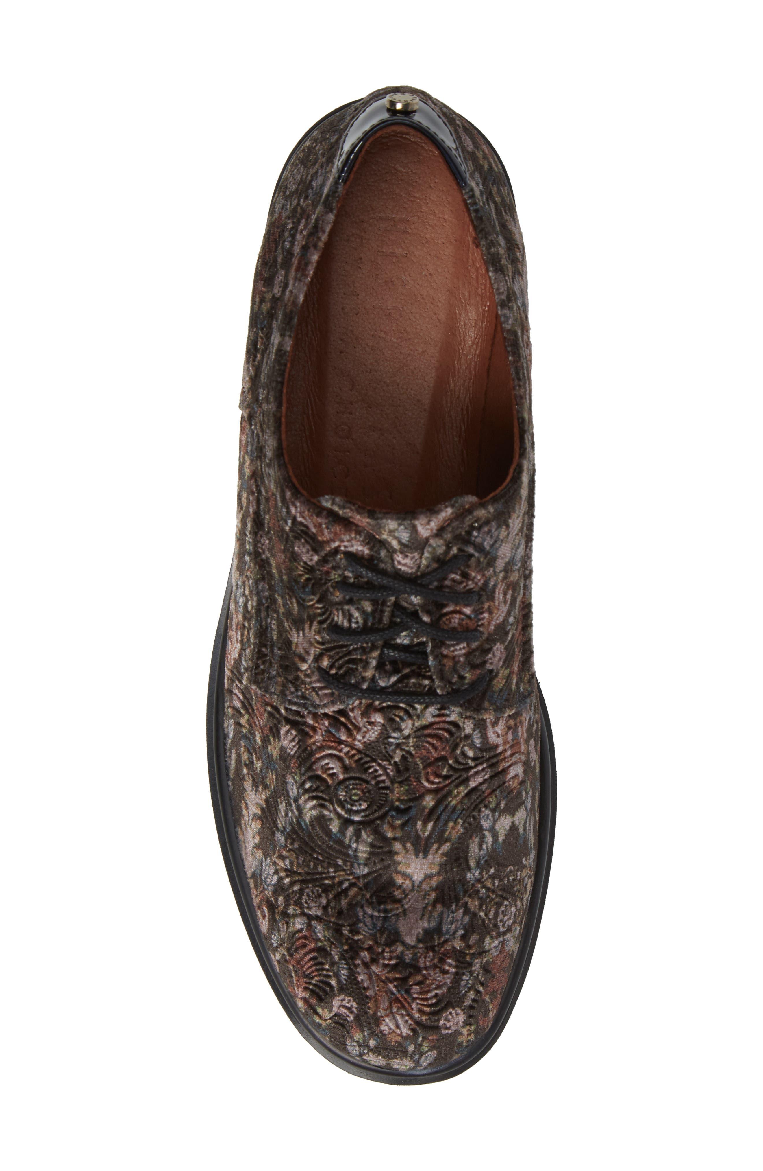 Richelle Oxford Sneaker,                             Alternate thumbnail 5, color,                             GREY FABRIC