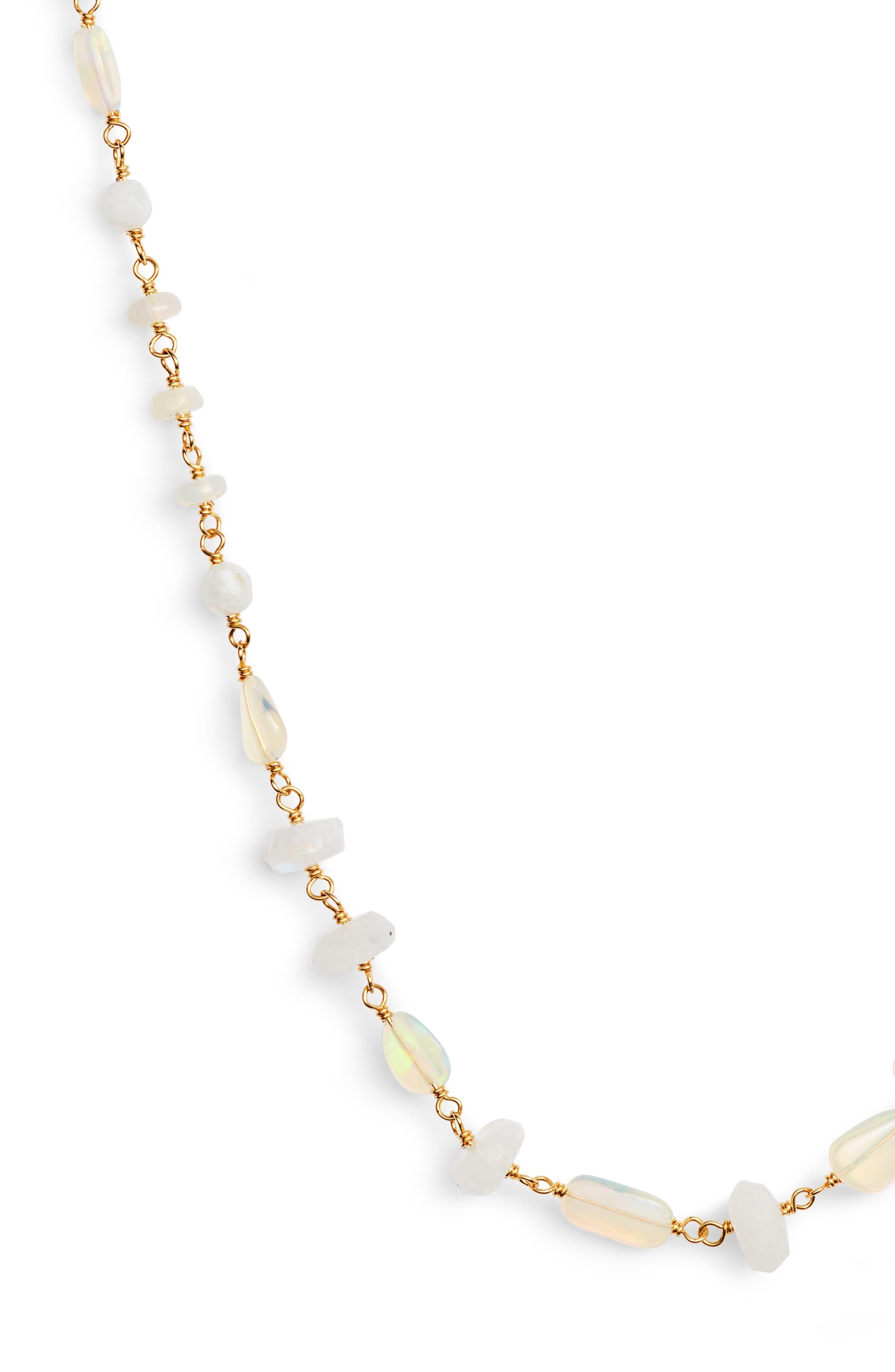 Opal Layering Necklace,                             Alternate thumbnail 2, color,                             ETHIOPIAN OPAL