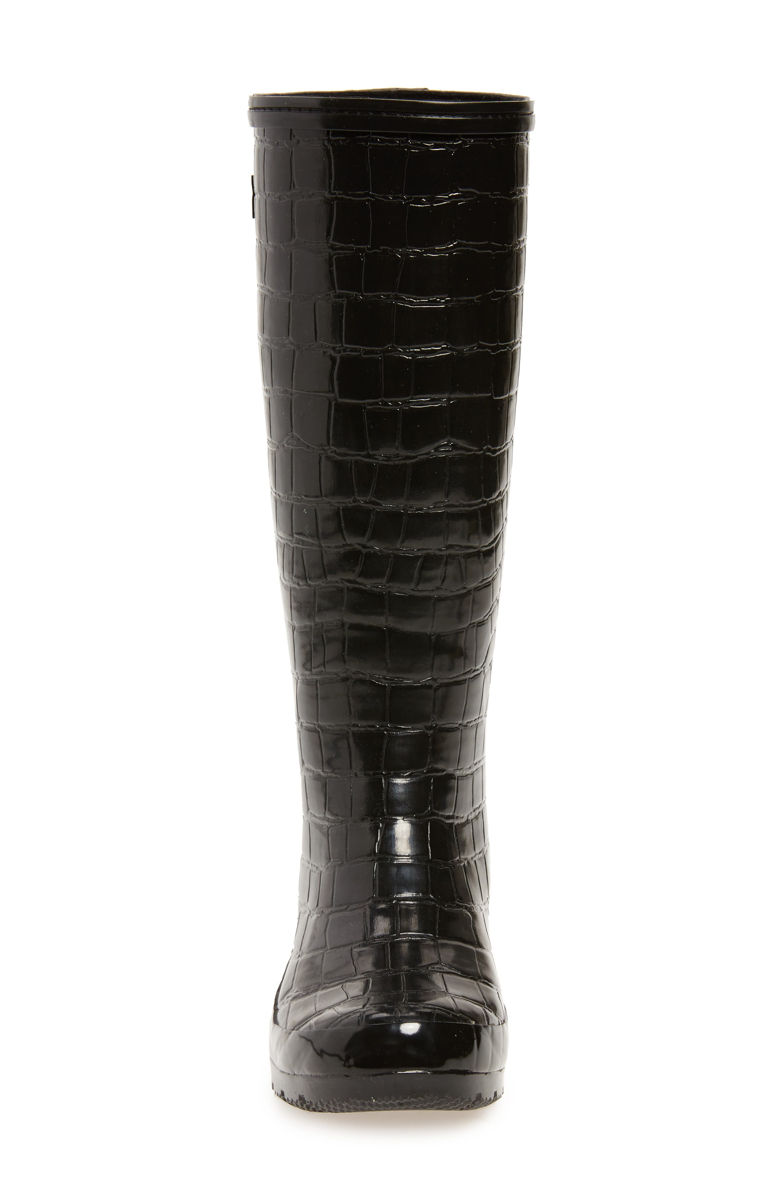 Classic Glossy Rain Boot,                             Alternate thumbnail 4, color,                             001