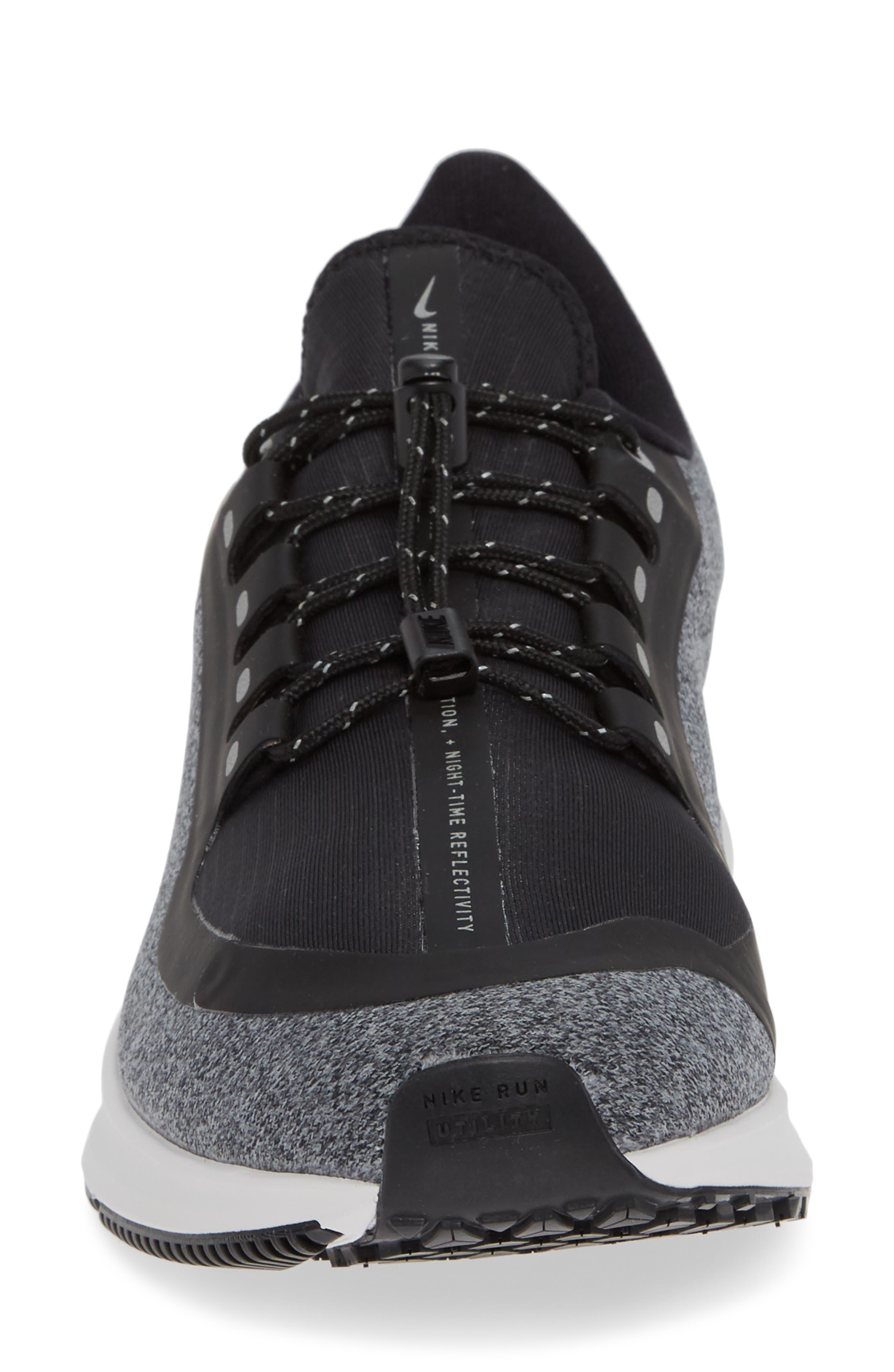 Air Zoom Pegasus 35 Shield GS Water Repellent Running Shoe,                             Alternate thumbnail 4, color,                             BLACK/ WHITE-COOL GREY-GREY