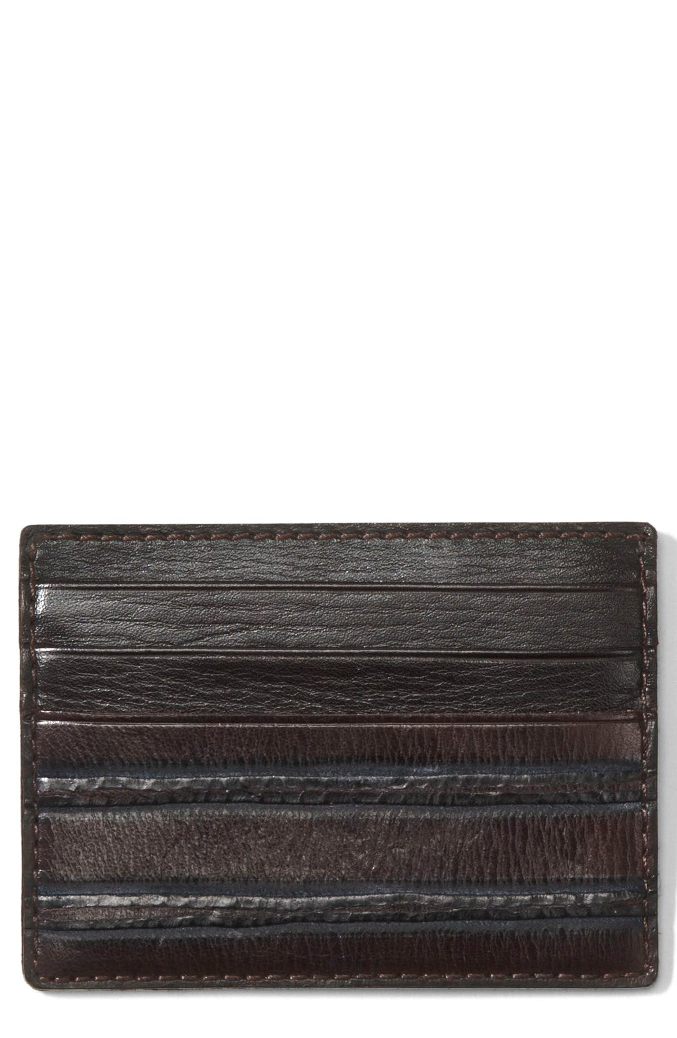 Leather Card Case,                         Main,                         color, 205