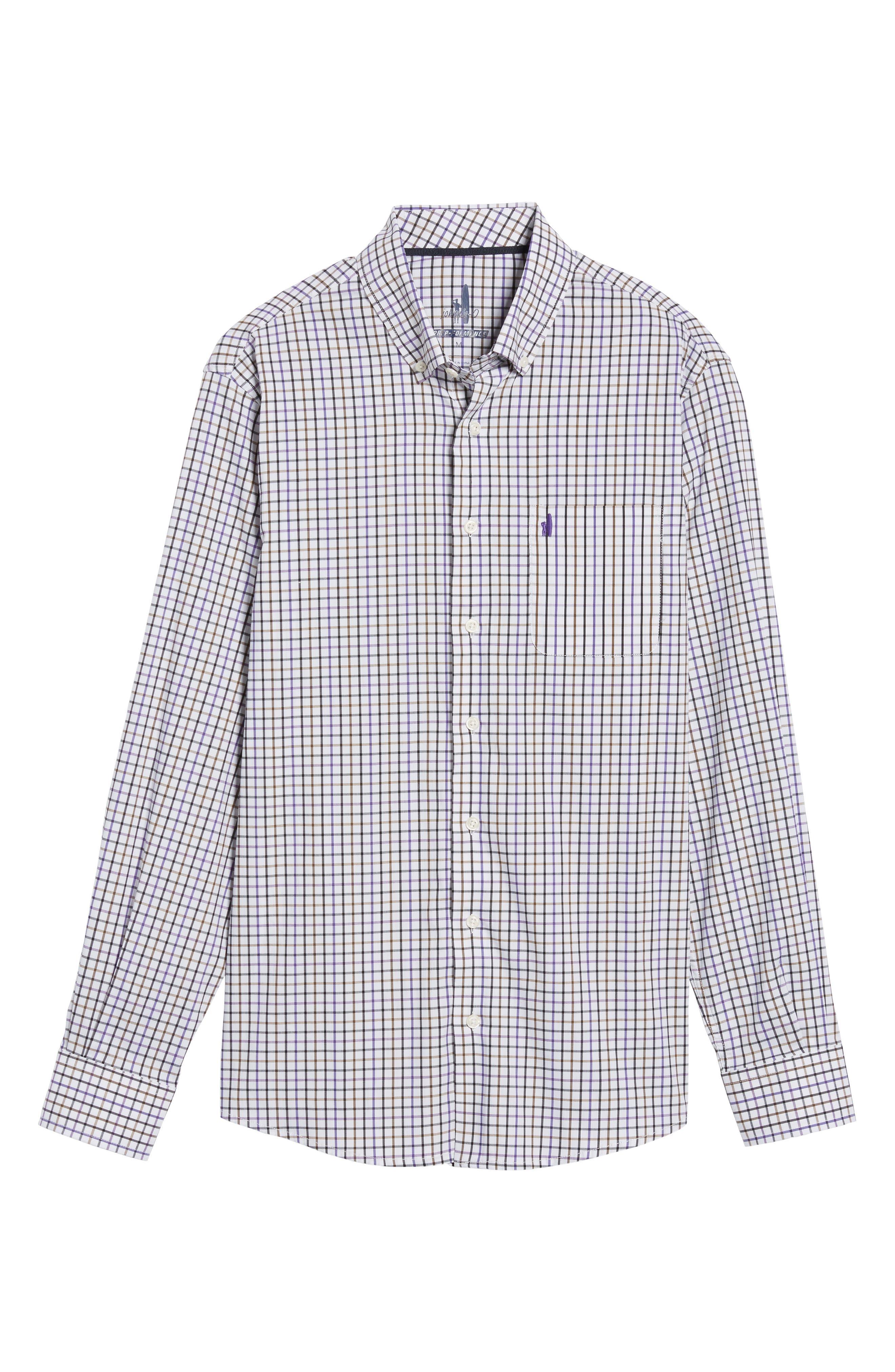 Merion Tattersall Sport Shirt,                             Alternate thumbnail 6, color,                             532