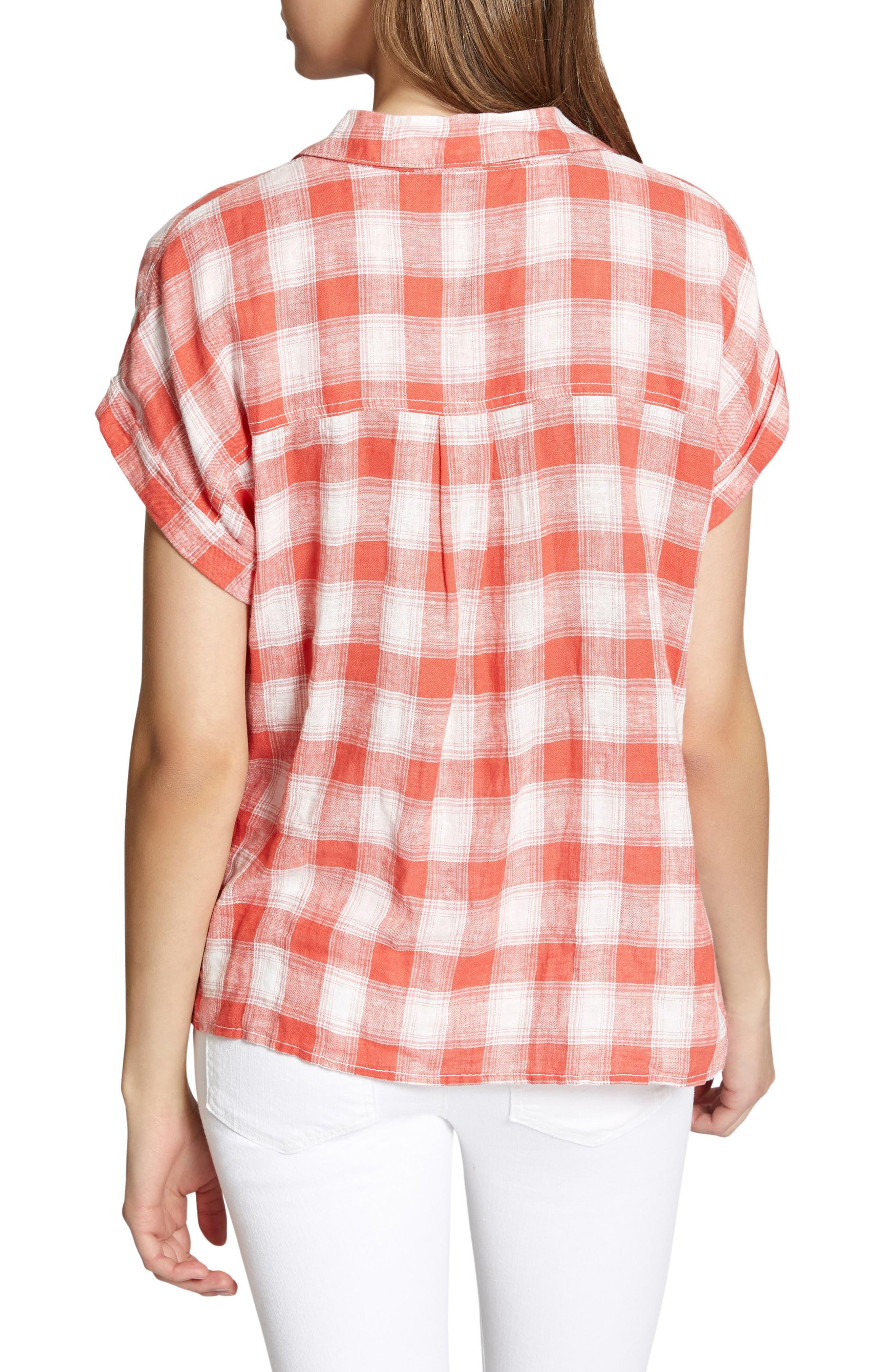 Mod Short Sleeve Boyfriend Shirt,                             Alternate thumbnail 14, color,