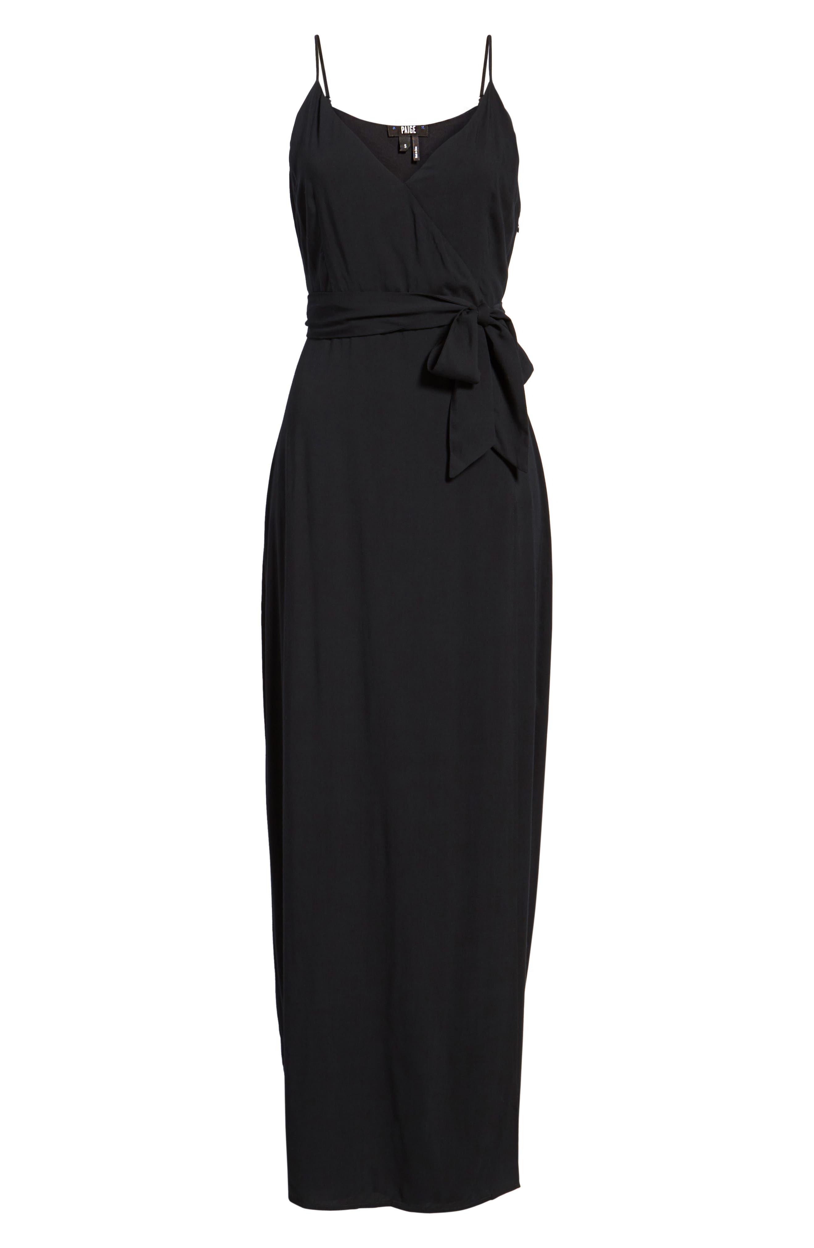 Regina Maxi Dress,                             Alternate thumbnail 7, color,                             001