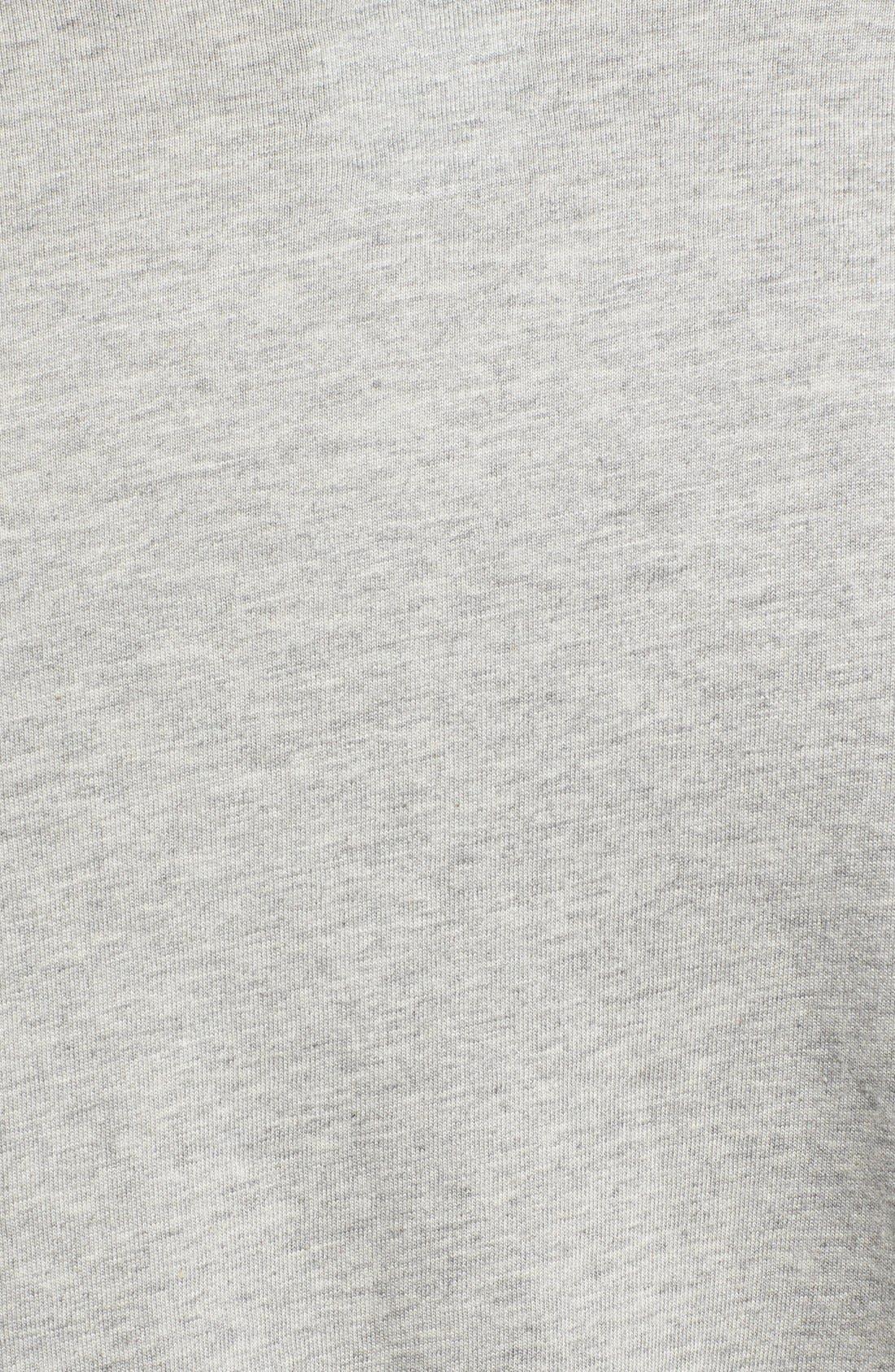 Crewneck T-Shirt,                             Alternate thumbnail 3, color,                             ANDOVER HEATHER