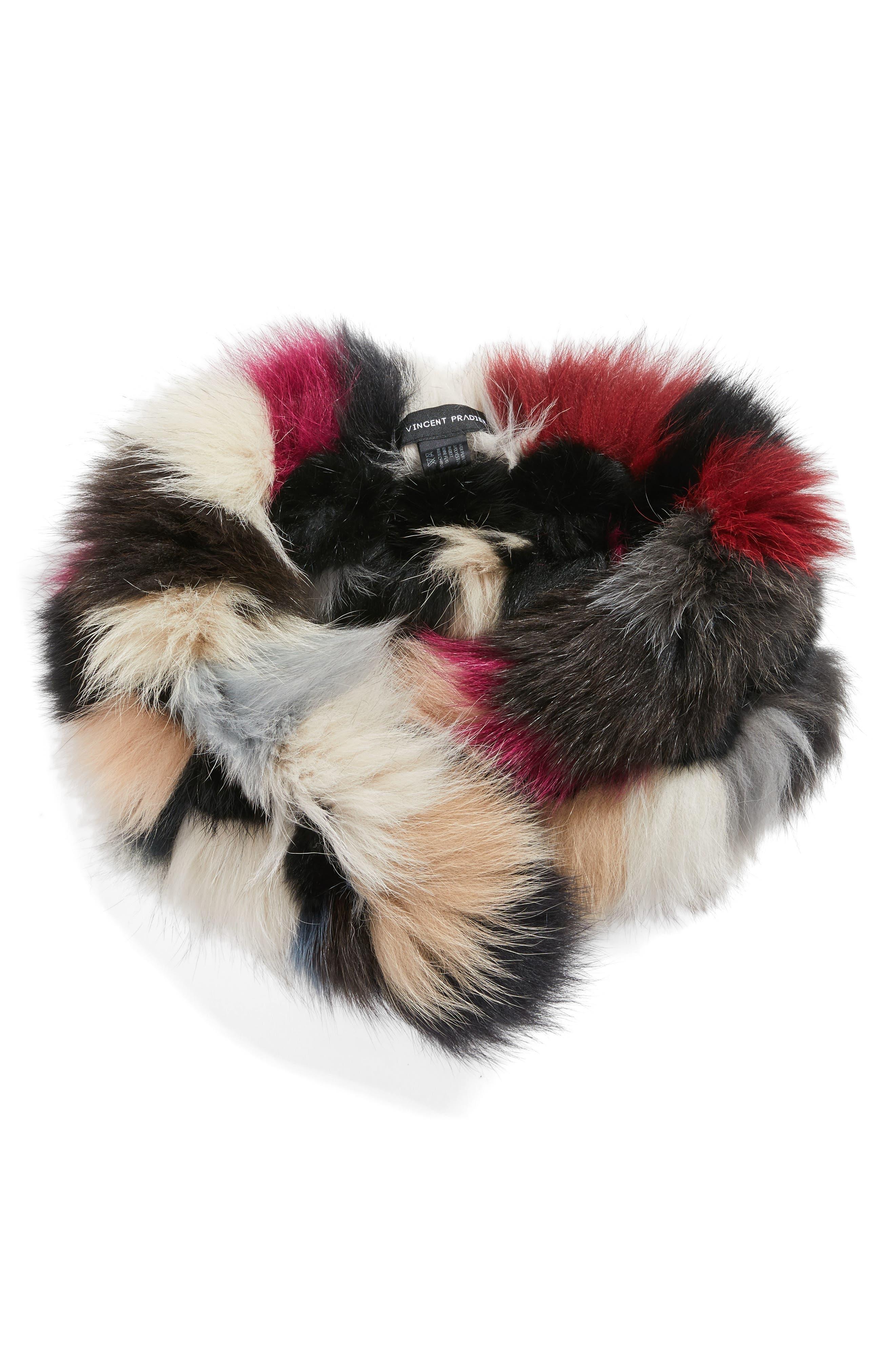 Genuine Fox Fur Scarf,                             Alternate thumbnail 2, color,                             001