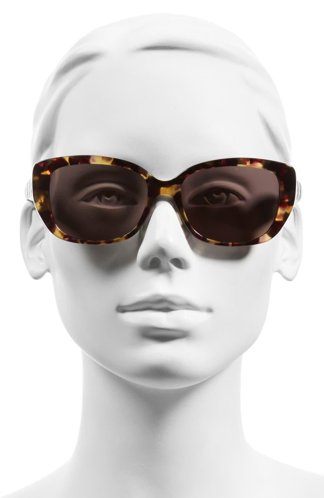 Lady 55mm Cat Eye Sunglasses,                             Alternate thumbnail 7, color,