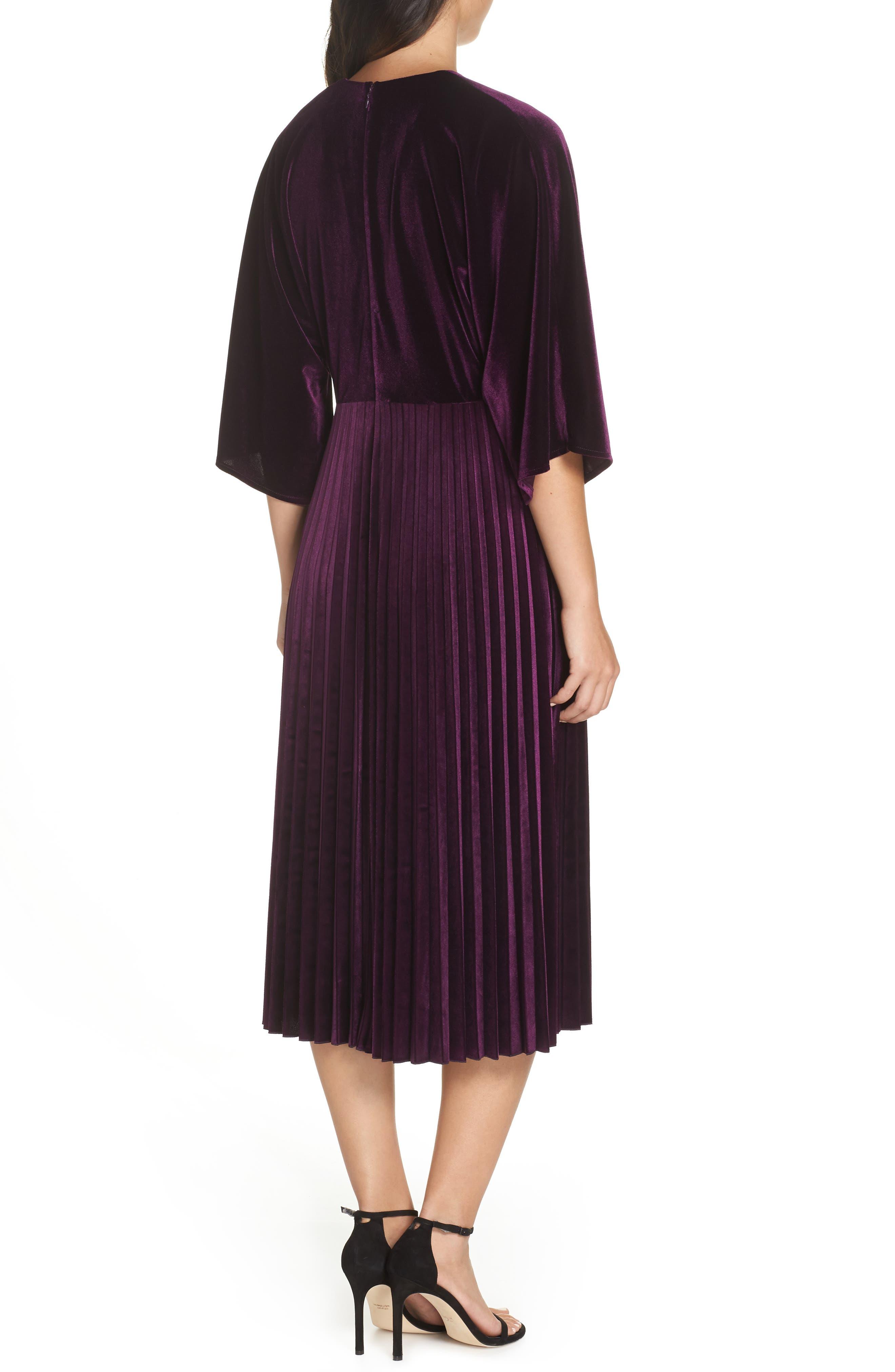 Kimono Pleated Dress,                             Alternate thumbnail 2, color,                             506