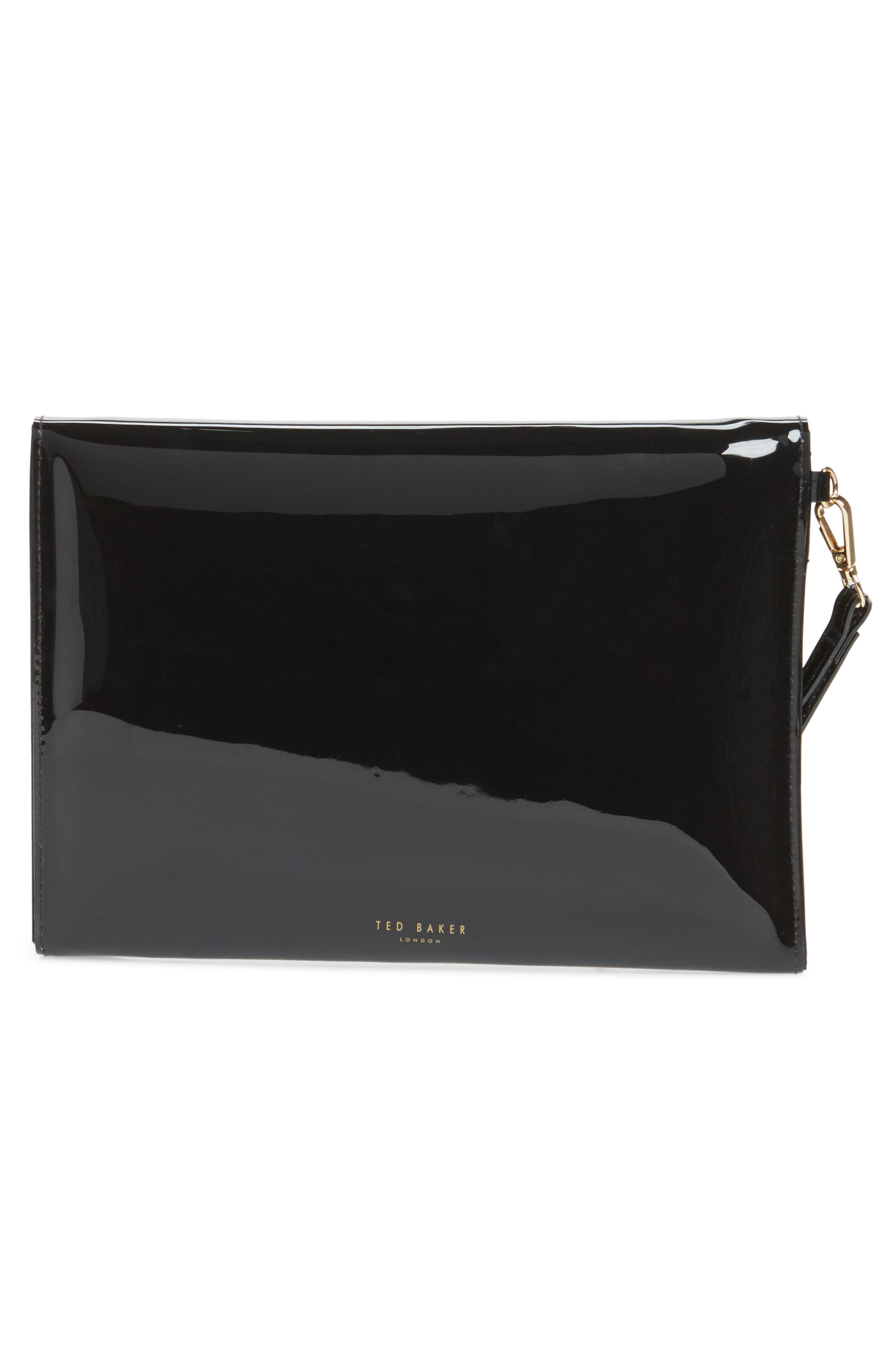 Cersei Envelope Clutch,                             Alternate thumbnail 3, color,                             BLACK