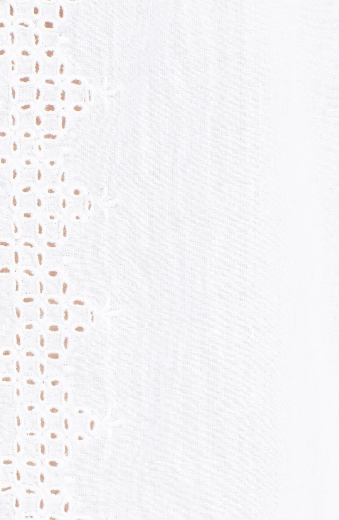 'Elisa' Eyelet Detail Cotton Lawn Blouse,                             Alternate thumbnail 3, color,                             111