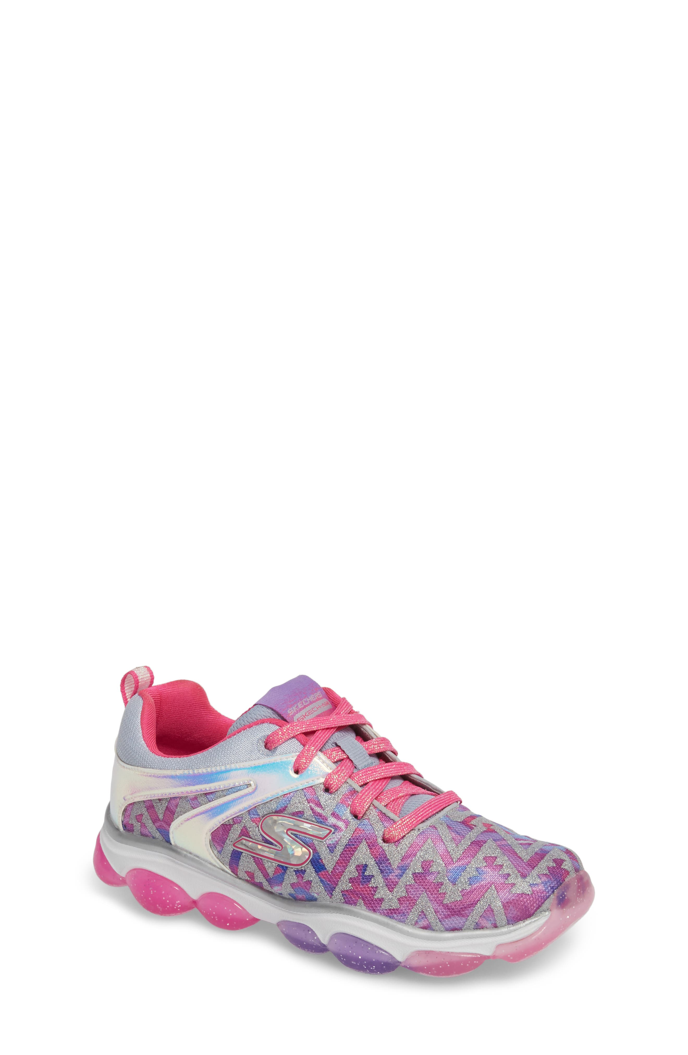Skech Air Groove Glitter Sneaker,                         Main,                         color, PINK/ MULTI
