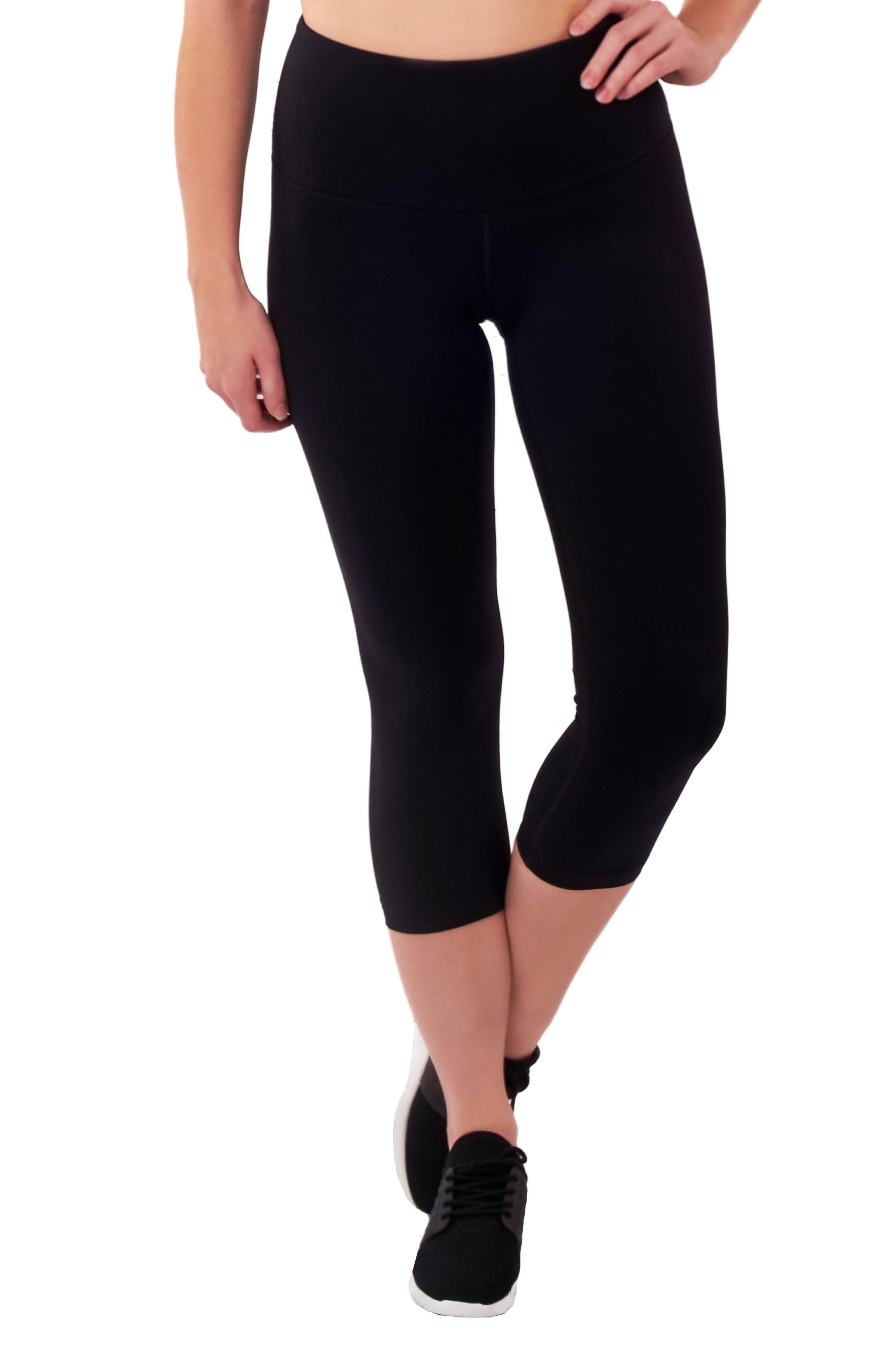 Lalabu High Waist Crop Postpartum Leggings, Black