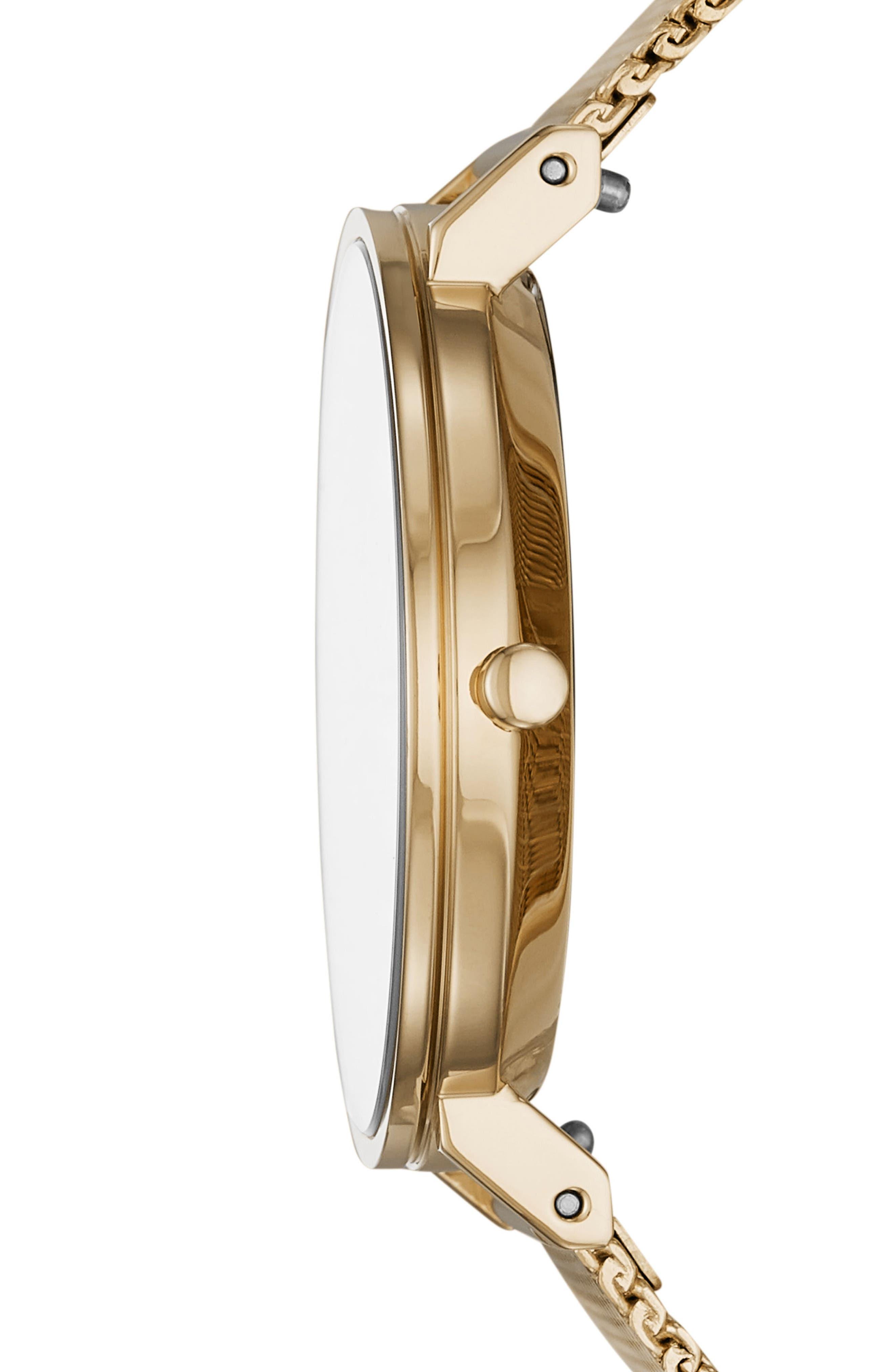 Hald Bracelet Watch, 34mm,                             Alternate thumbnail 2, color,                             GOLD/ SILVER/ GOLD