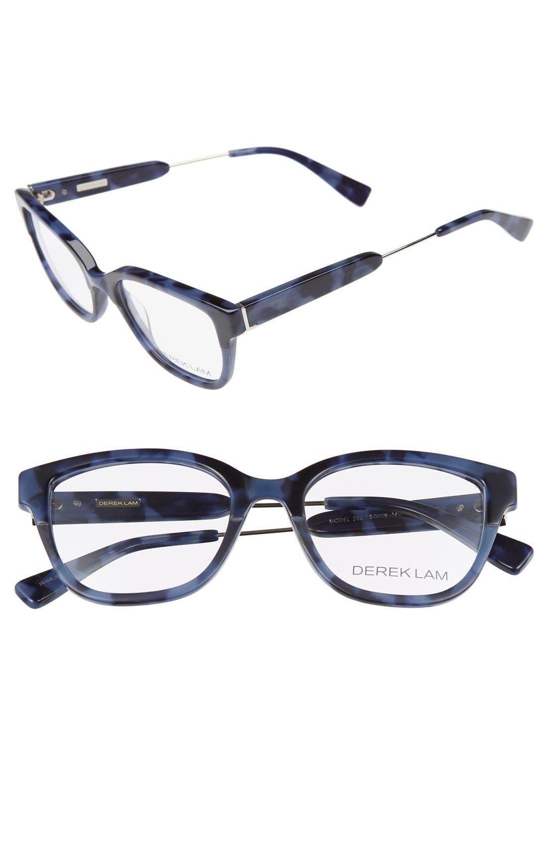 50mm Optical Glasses,                             Main thumbnail 1, color,                             BLUE TORTOISE
