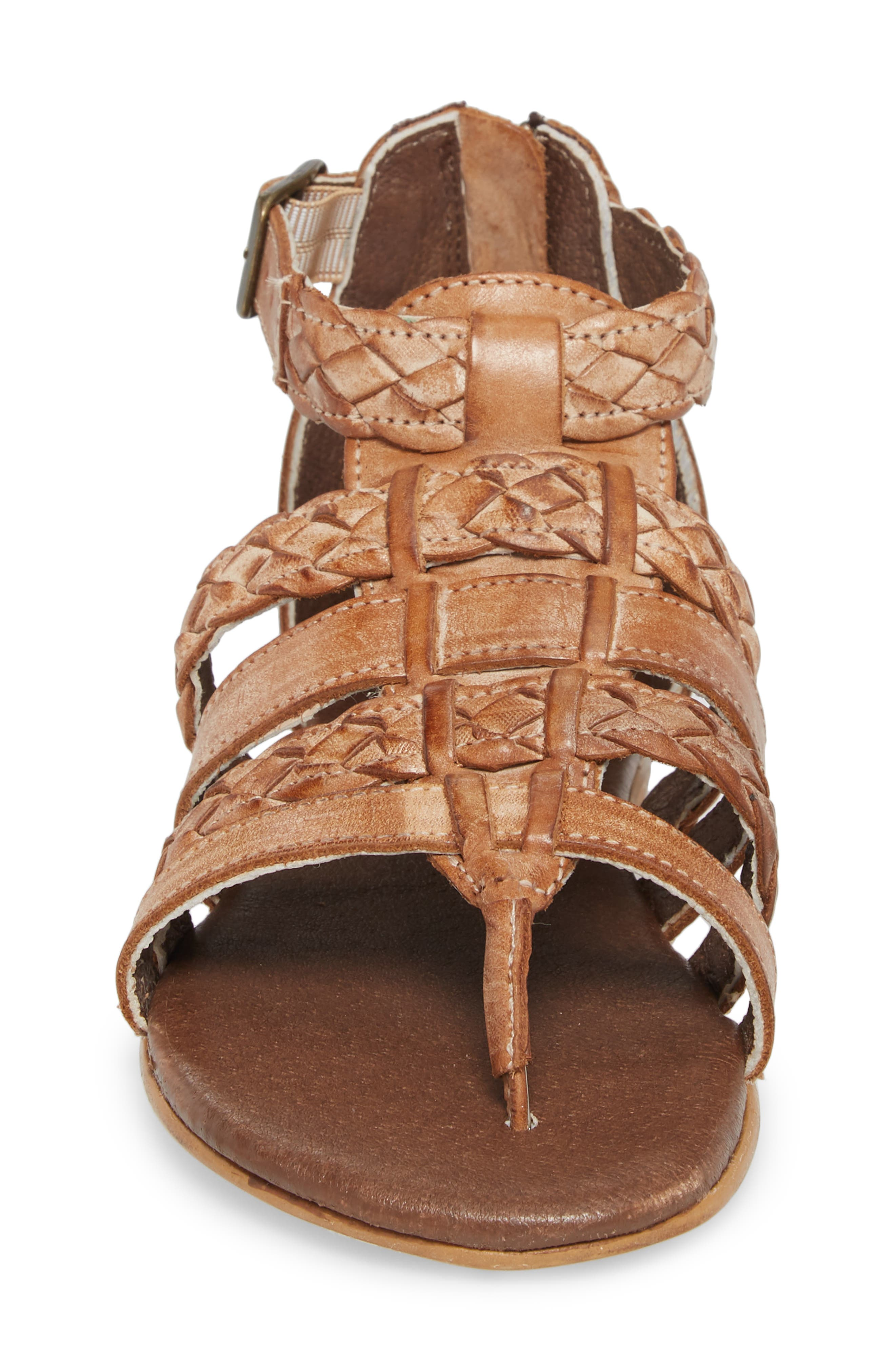 Kaliope Sandal,                             Alternate thumbnail 4, color,                             VICTORIA COGNAC/ WHITE
