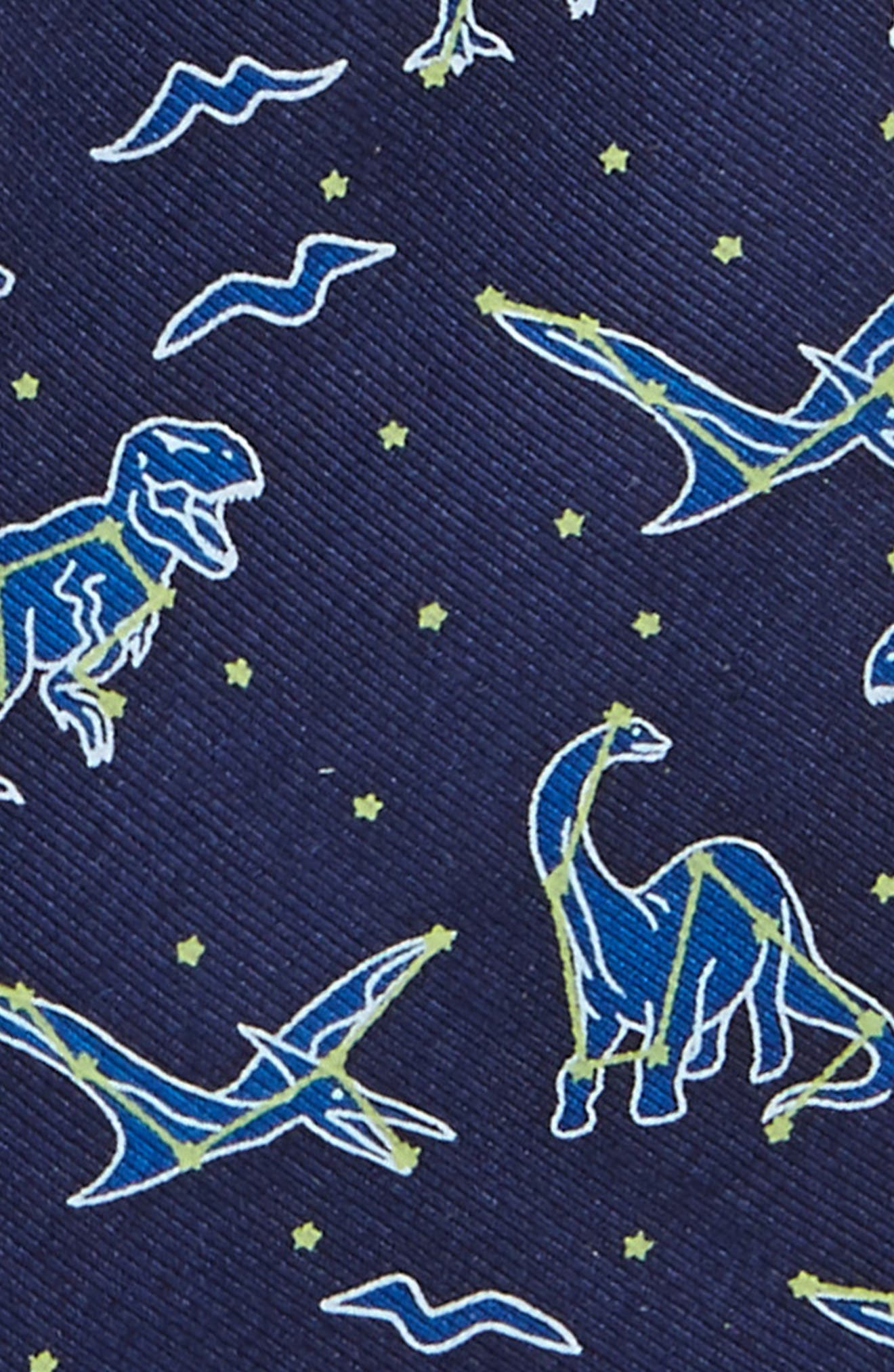 Dino Print Silk Tie,                             Alternate thumbnail 2, color,                             411