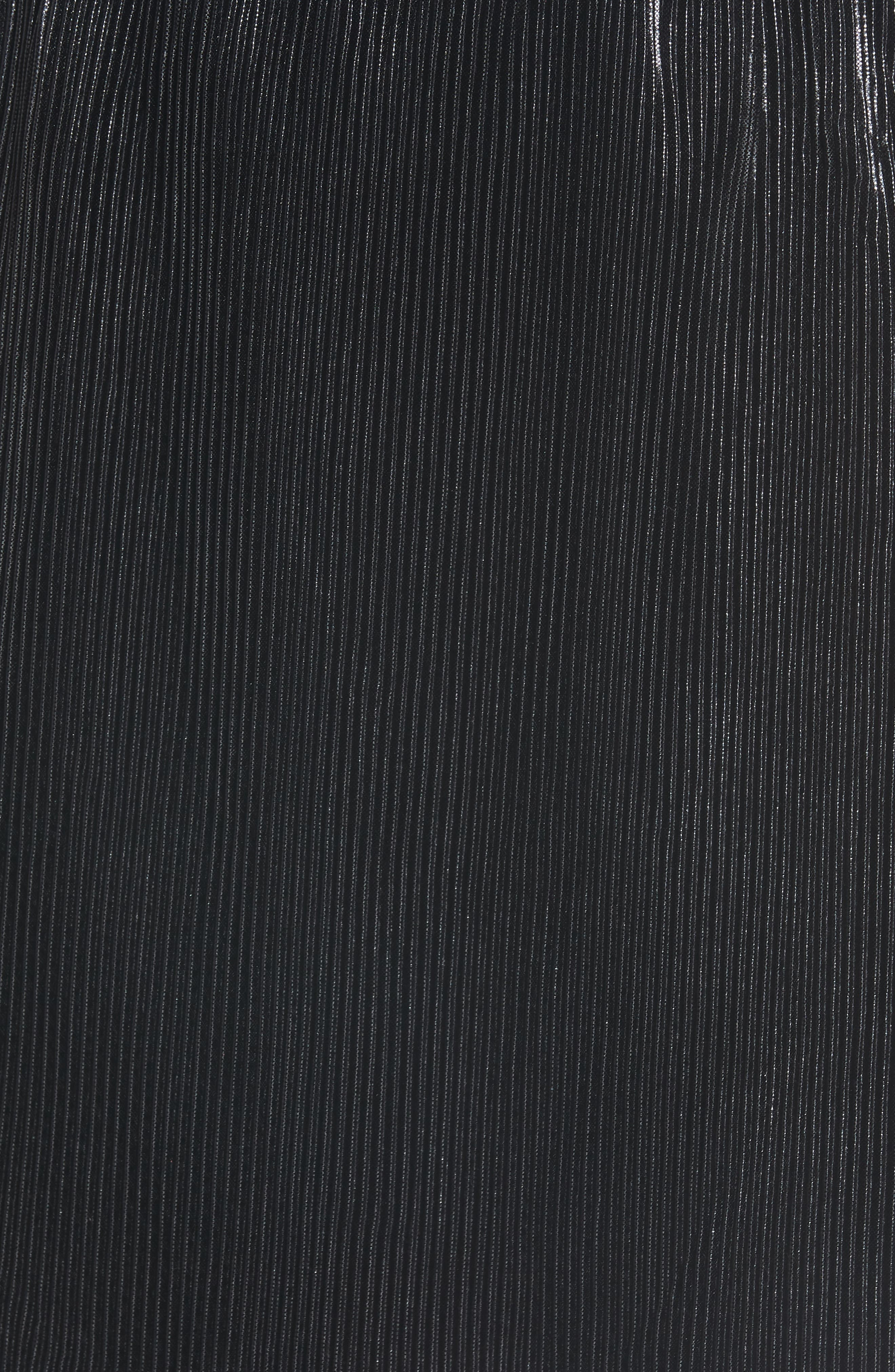 Shine On Shine On Pleated Dress,                             Alternate thumbnail 6, color,                             BLACK