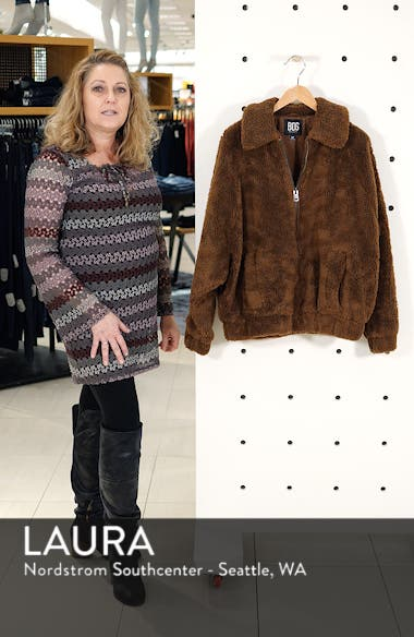 Urban Outfitters Batwing Faux Shearling Jacket, sales video thumbnail