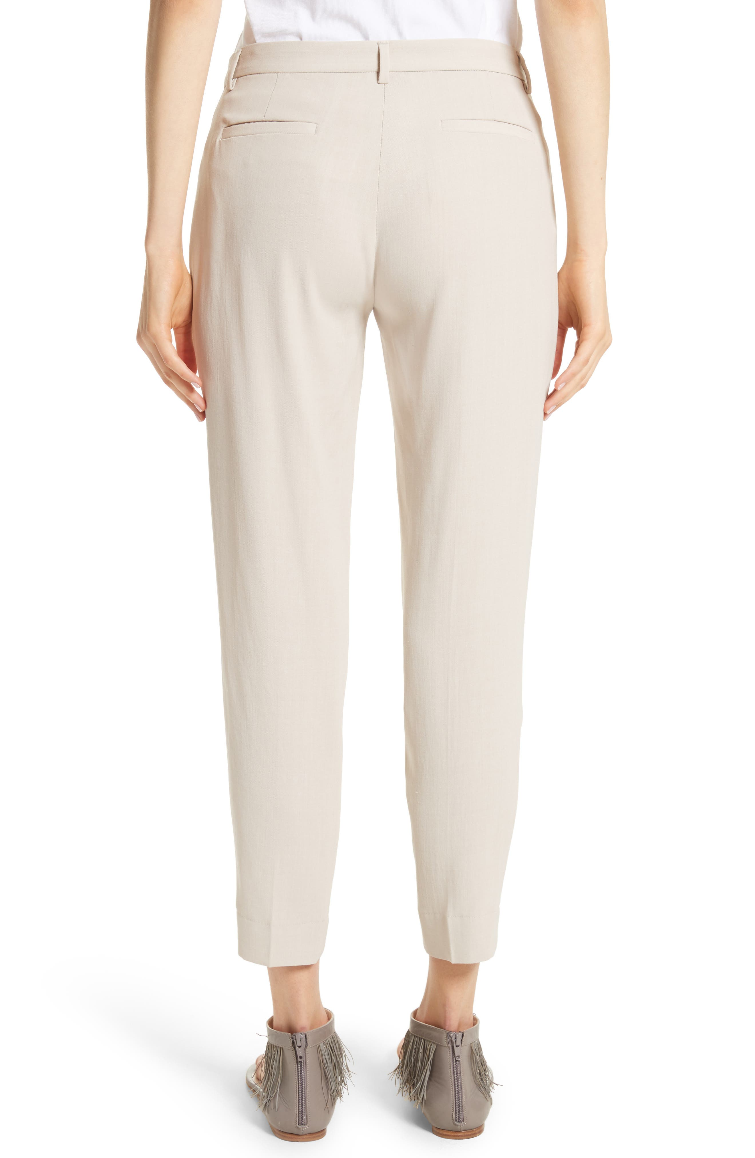 Wool Blend Ankle Pants,                             Alternate thumbnail 2, color,