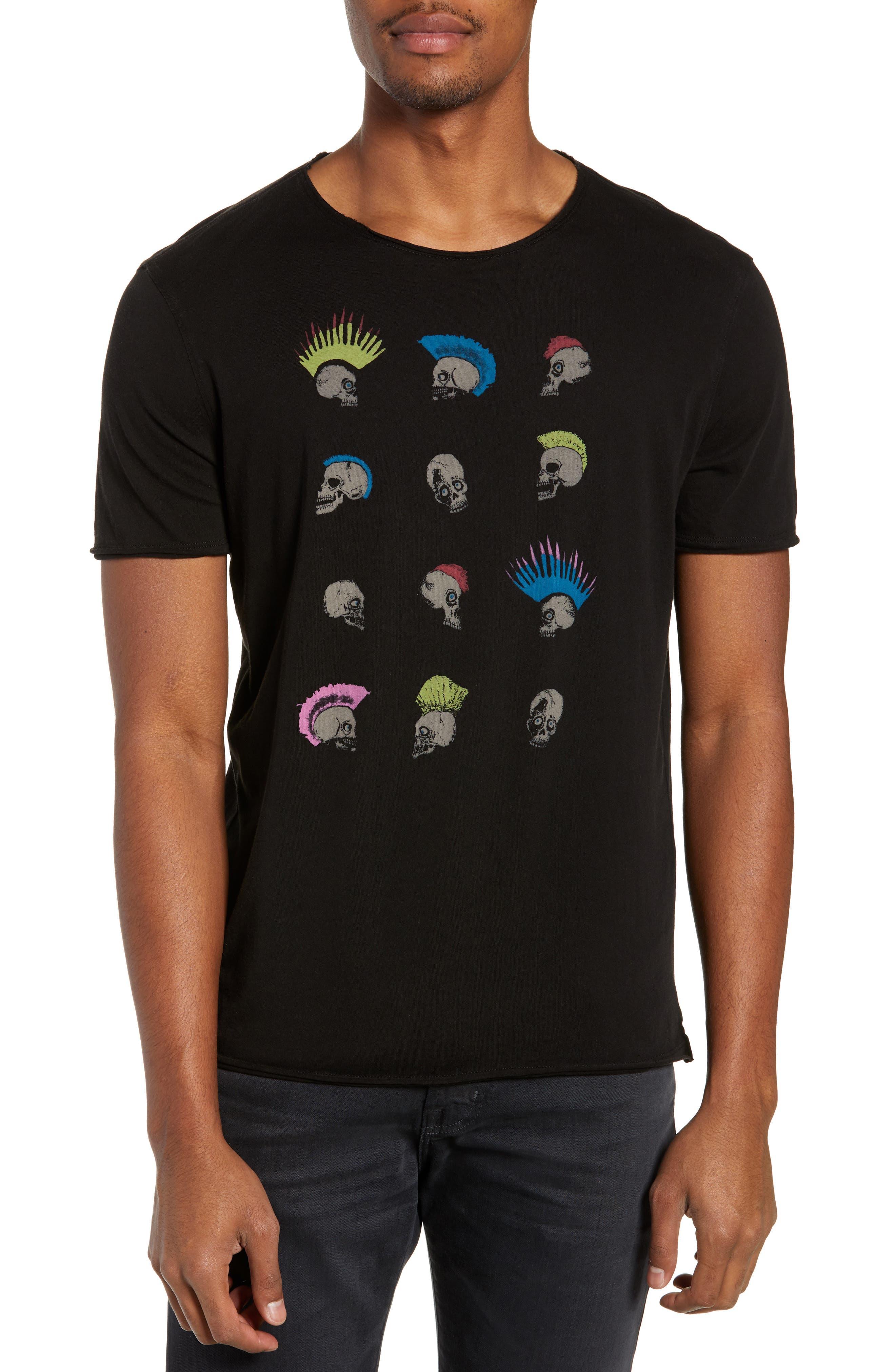Skullhawks Graphic T-Shirt, Main, color, BLACK