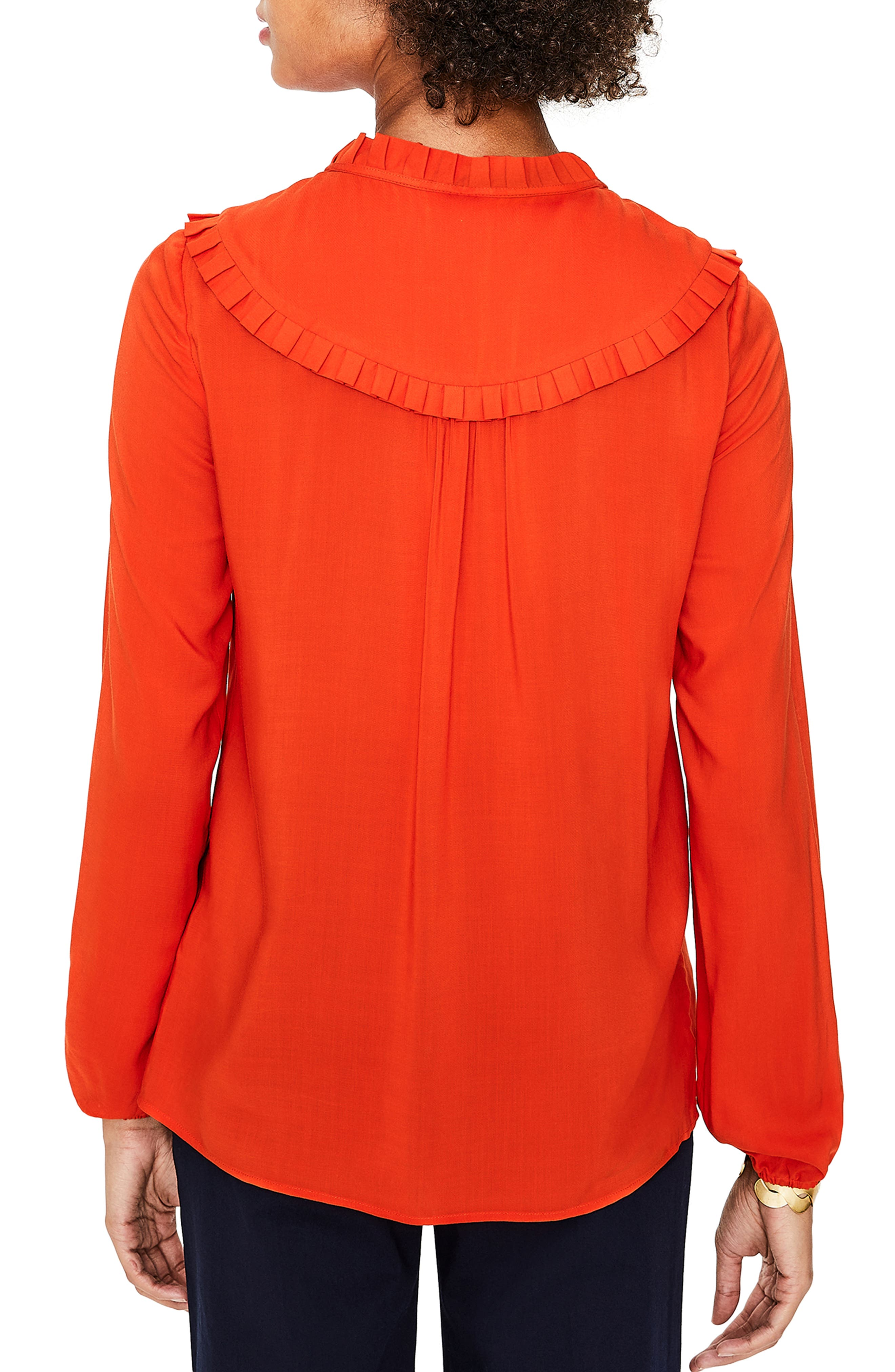 Betsy Ruffle Top,                             Alternate thumbnail 2, color,                             RED POP