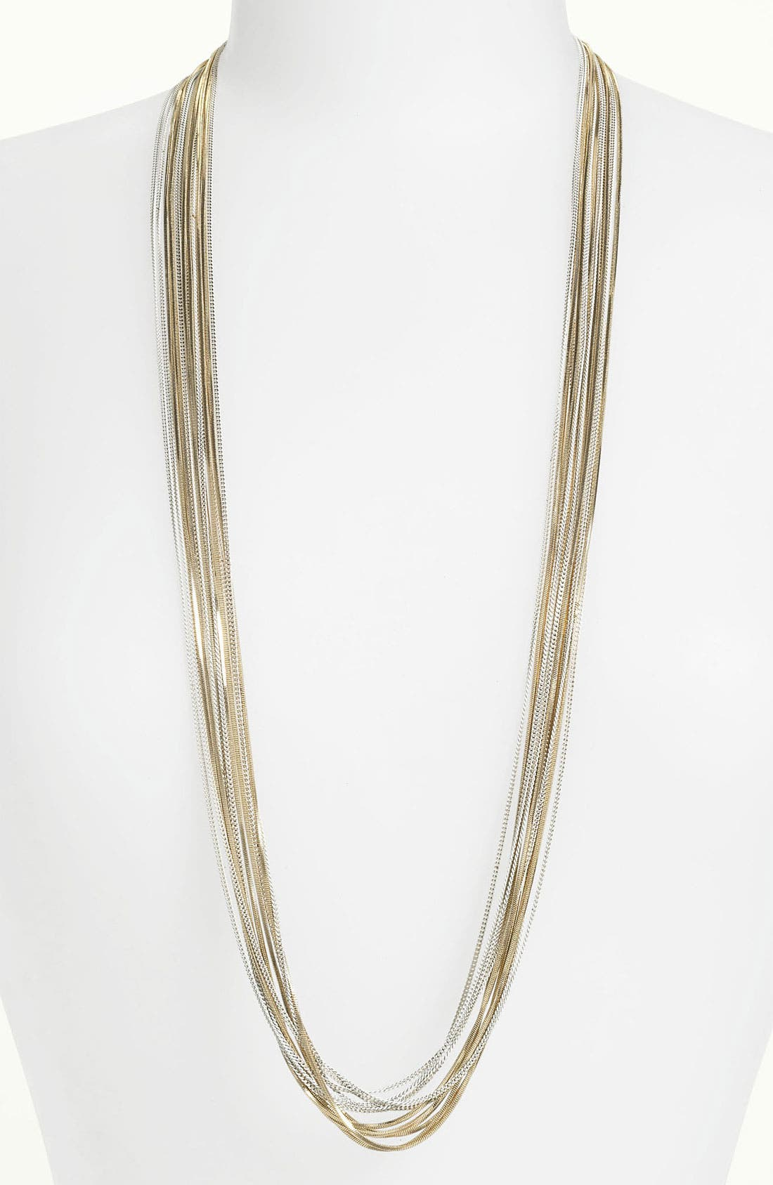 Long Multistrand Necklace,                             Main thumbnail 3, color,