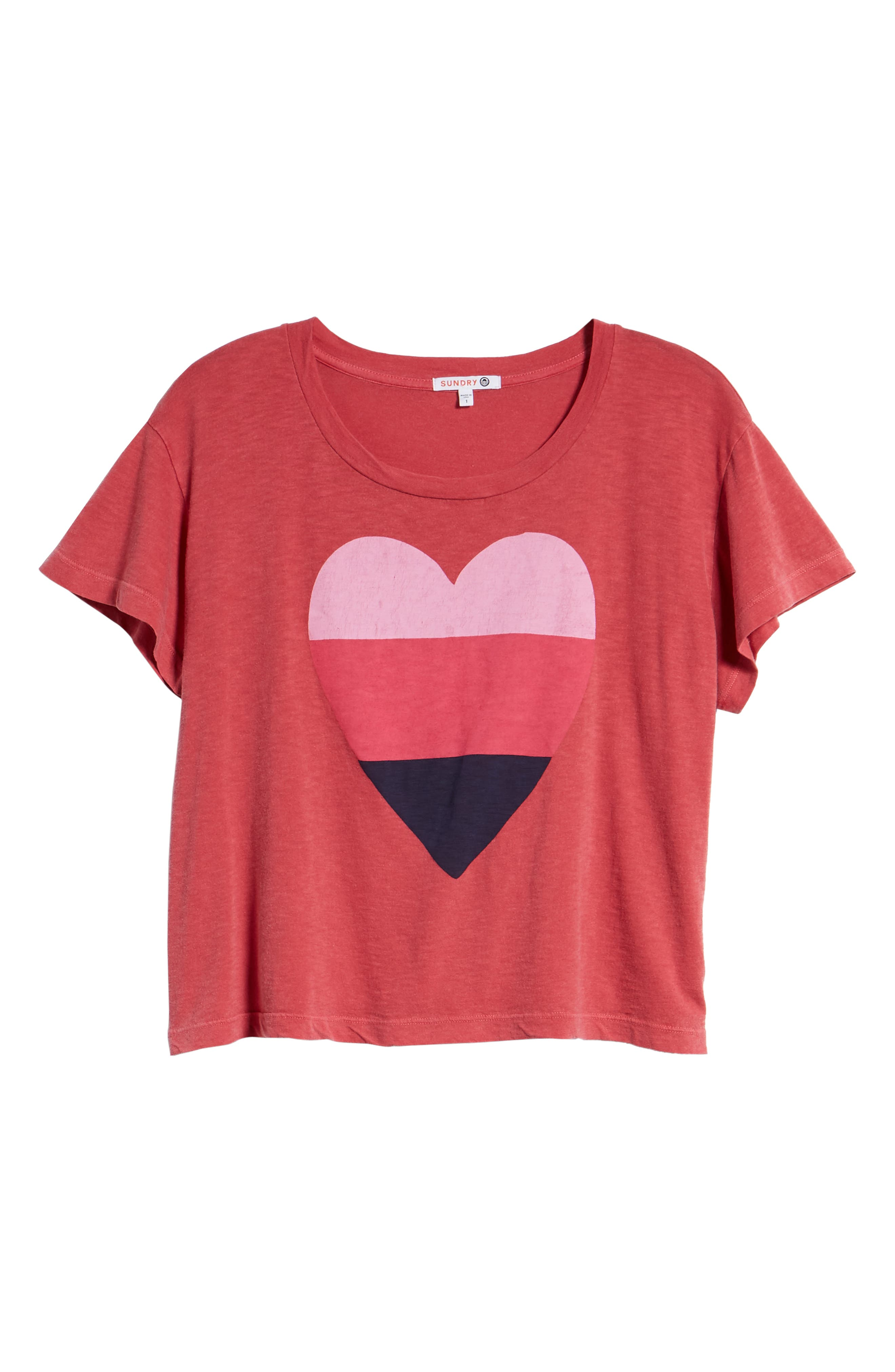 Heart Graphic Cotton Tee,                             Alternate thumbnail 6, color,                             617