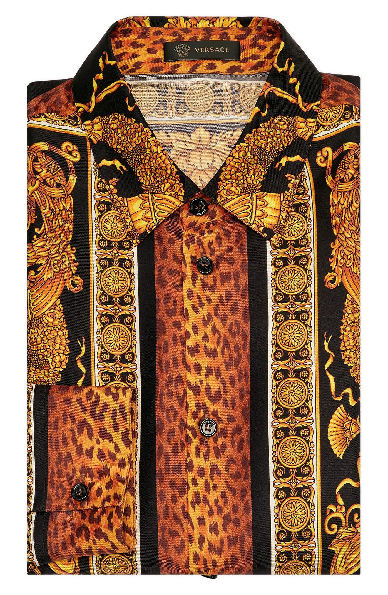 Baroque Print Shirt,                             Alternate thumbnail 4, color,                             994