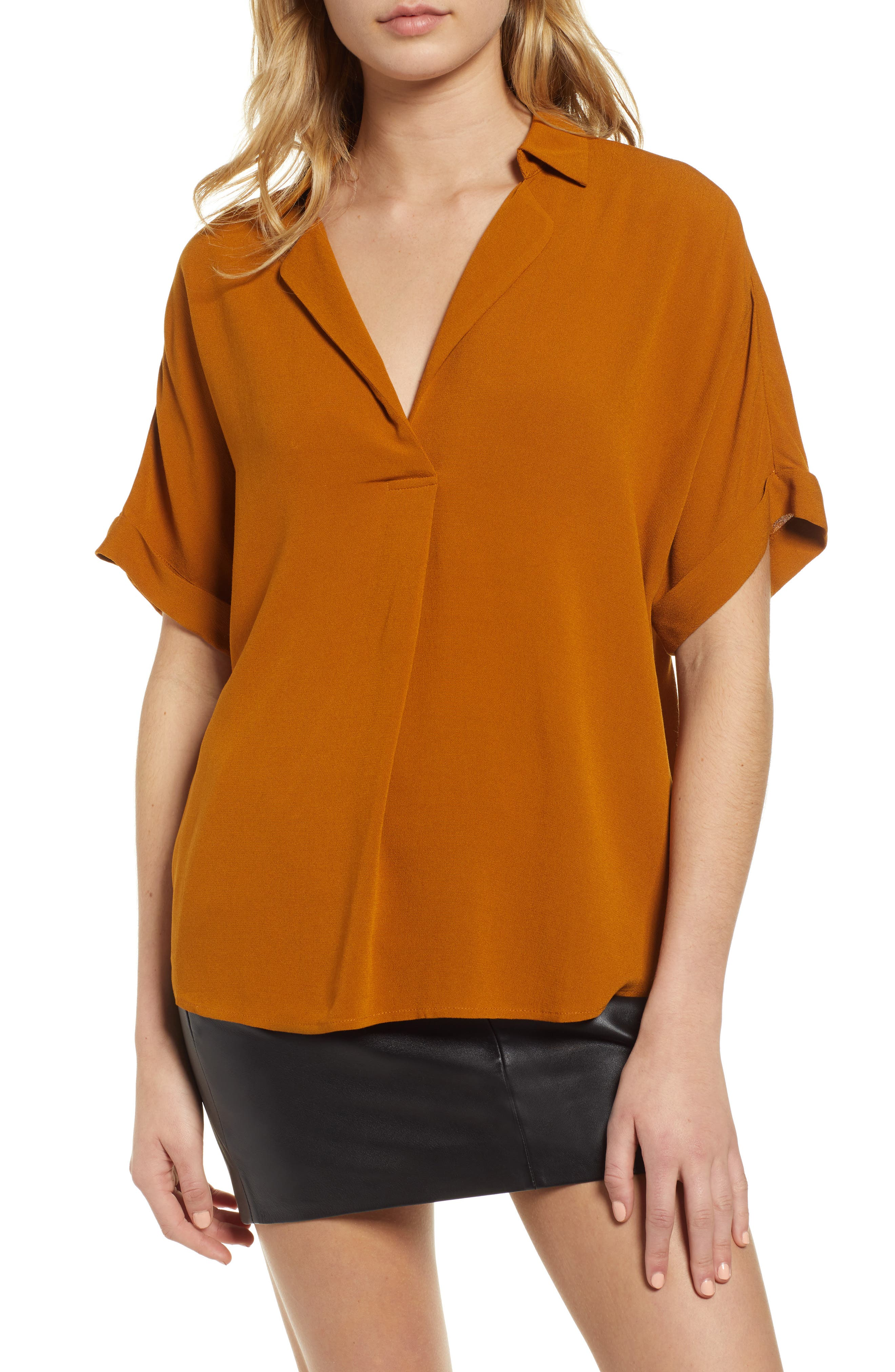 Button Back Top, Main, color, CATHAY SPICE