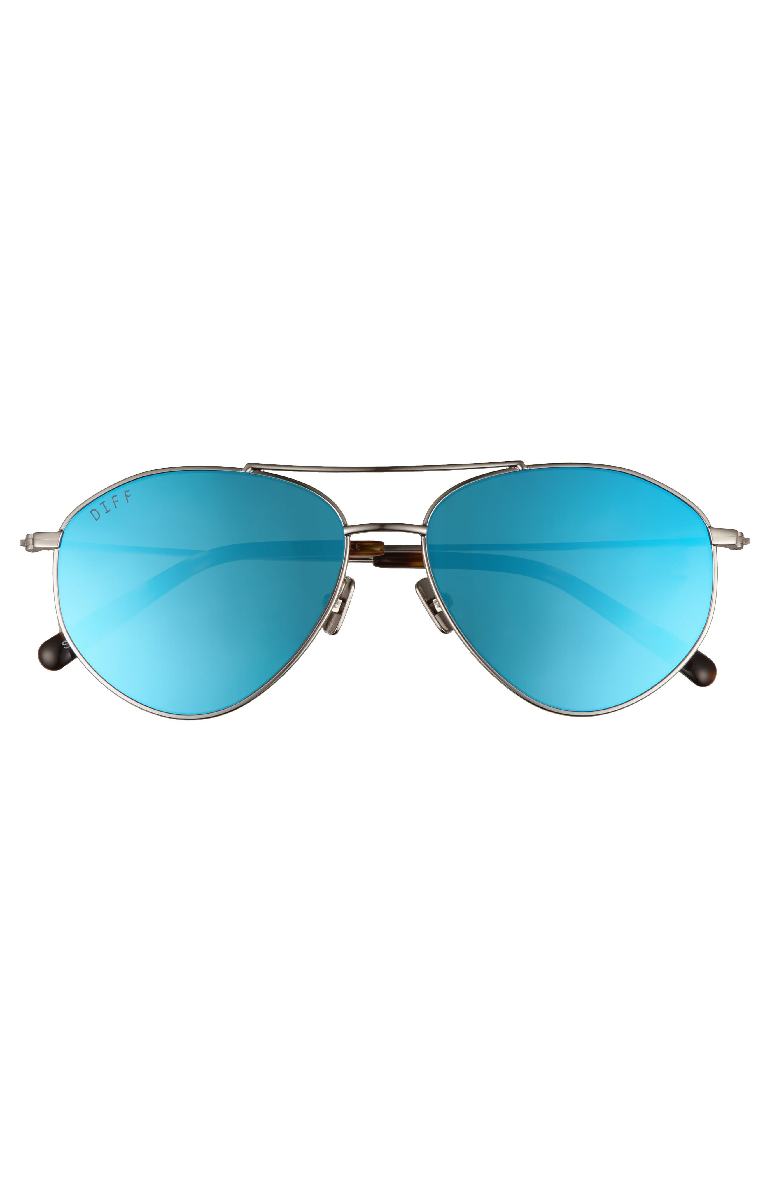 Scout 53mm Aviator Sunglasses,                             Alternate thumbnail 3, color,                             LIGHT GUNMETAL/ ICE BLUE