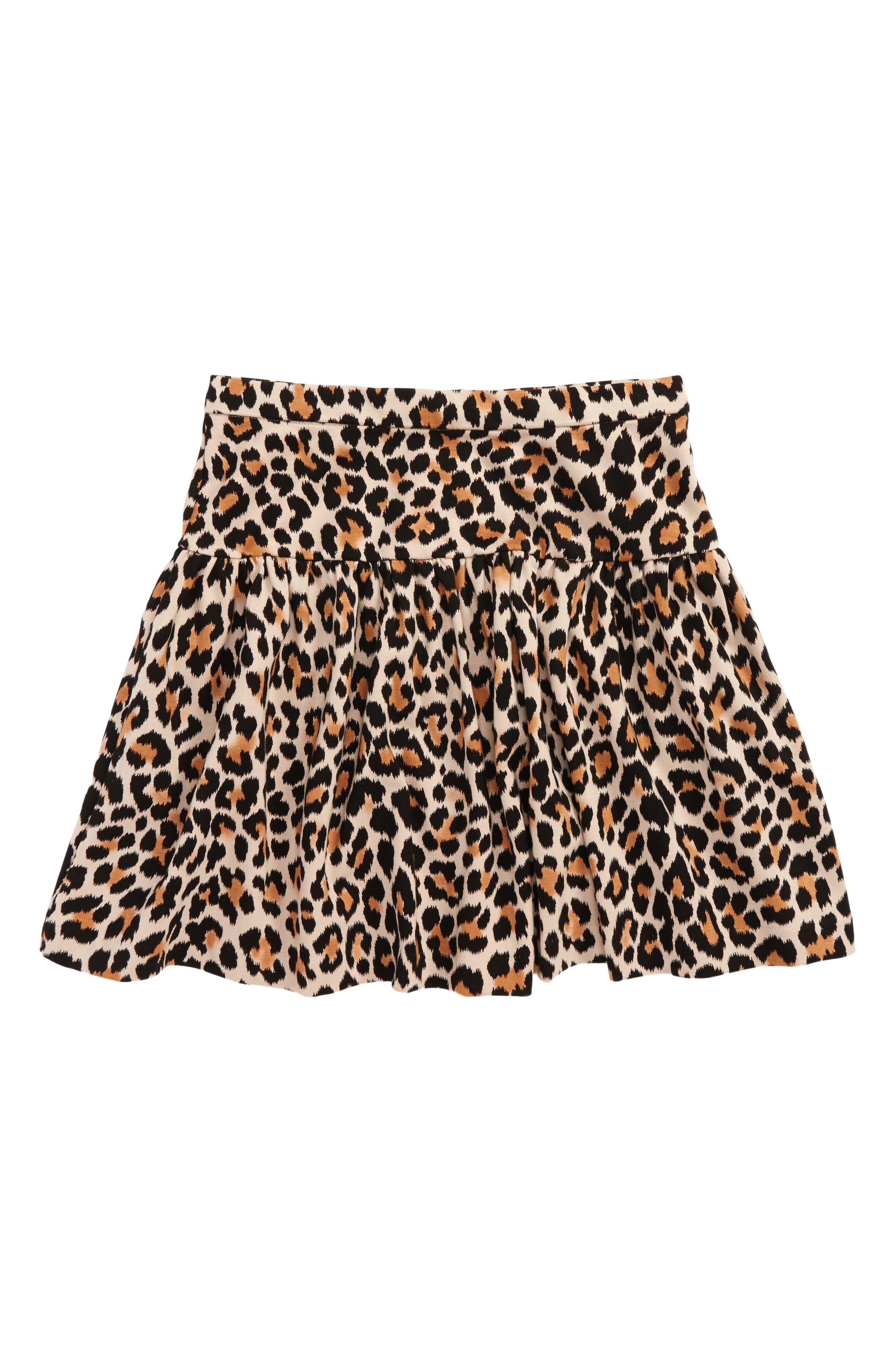 leopard print skirt,                             Main thumbnail 1, color,