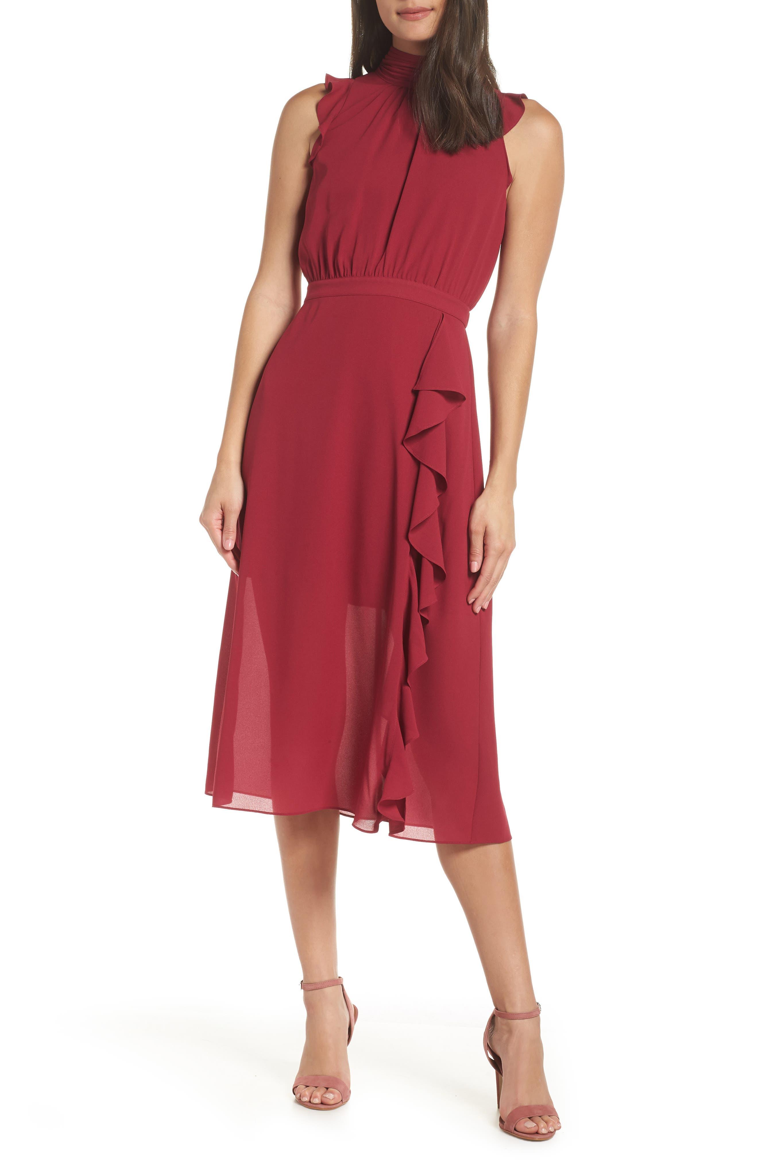 Ali & Jay Love Hangover Midi Dress, Burgundy