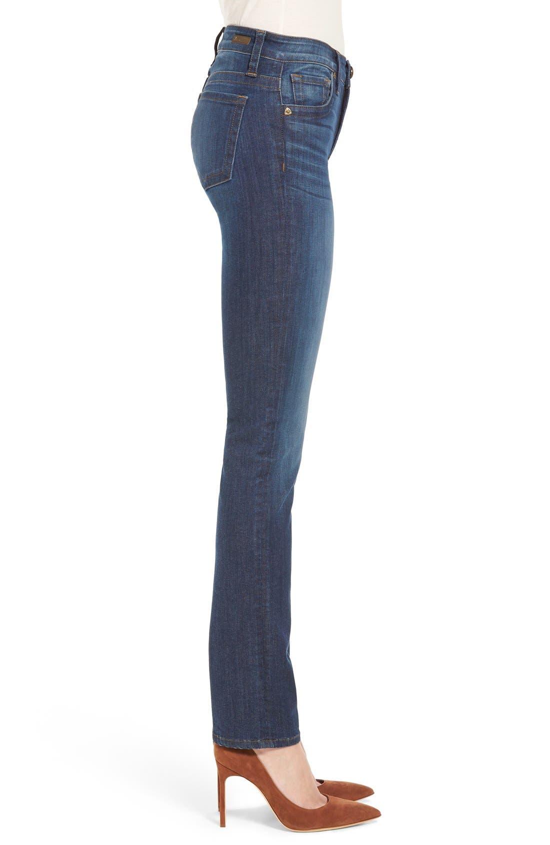 'Stevie' Stretch Straight Leg Jeans,                             Alternate thumbnail 4, color,                             400
