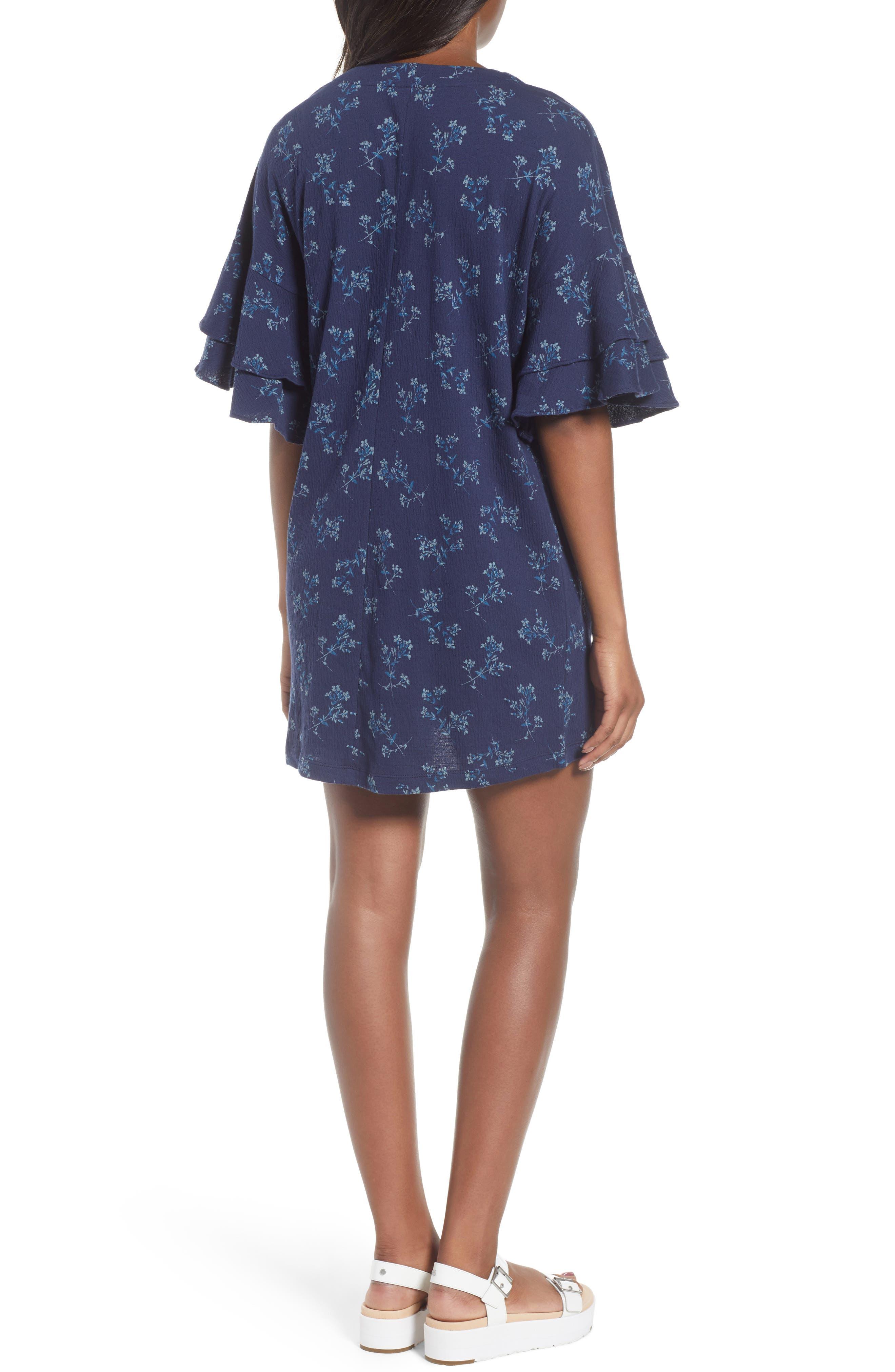 Tiered Sleeve Mini Dress,                             Alternate thumbnail 2, color,                             400