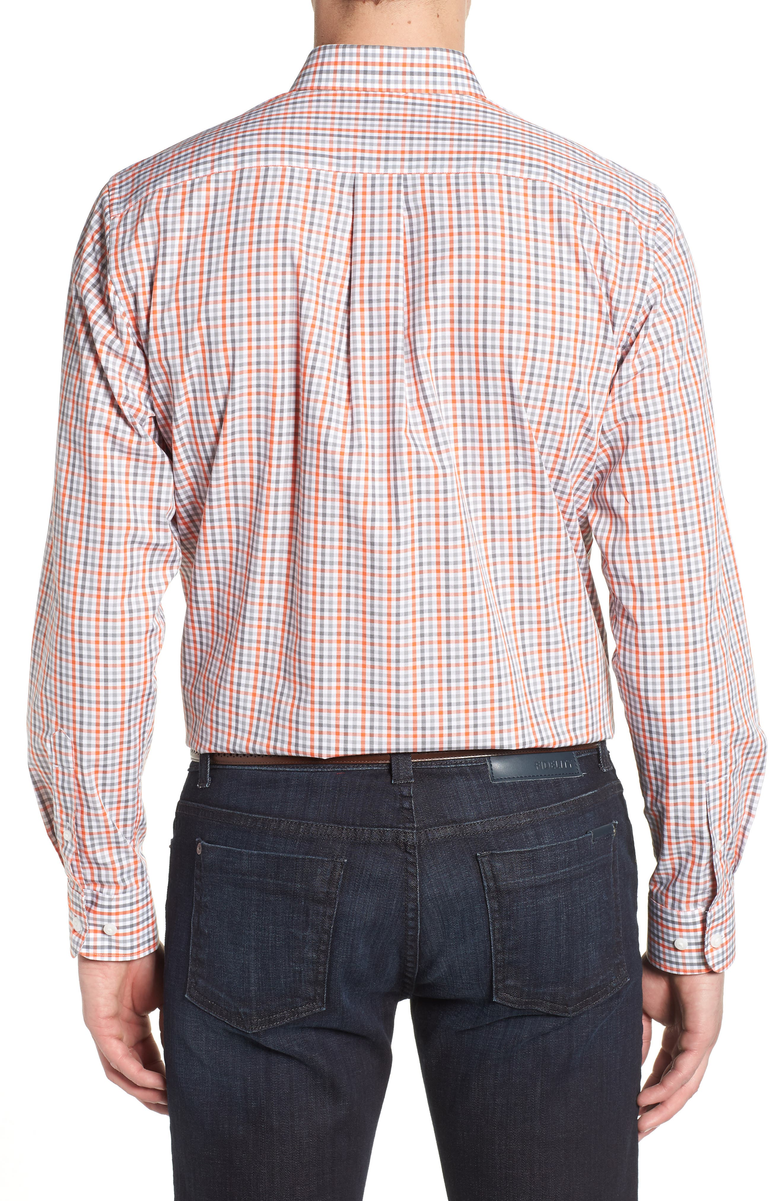 Cincinnati Bengals - Gilman Regular Fit Plaid Sport Shirt,                             Alternate thumbnail 2, color,                             COLLEGE ORANGE