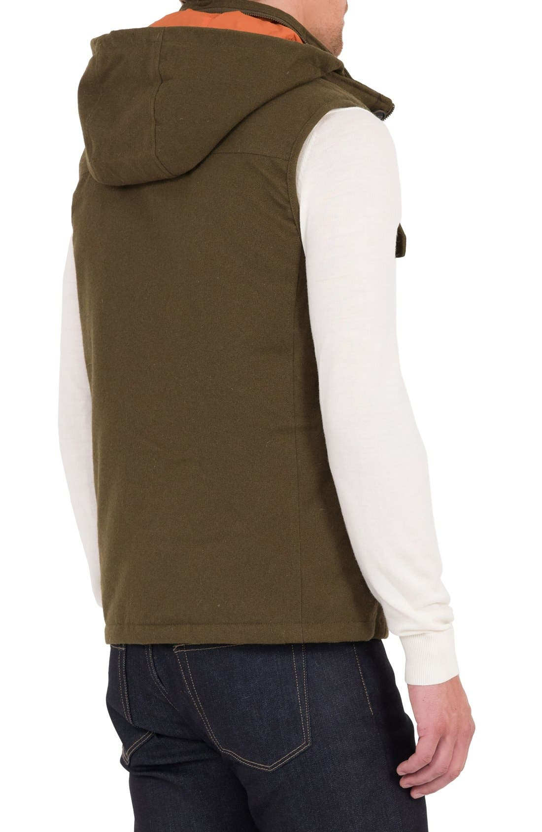 Water Resistant Down Vest with Stowaway Hood,                             Alternate thumbnail 2, color,                             317