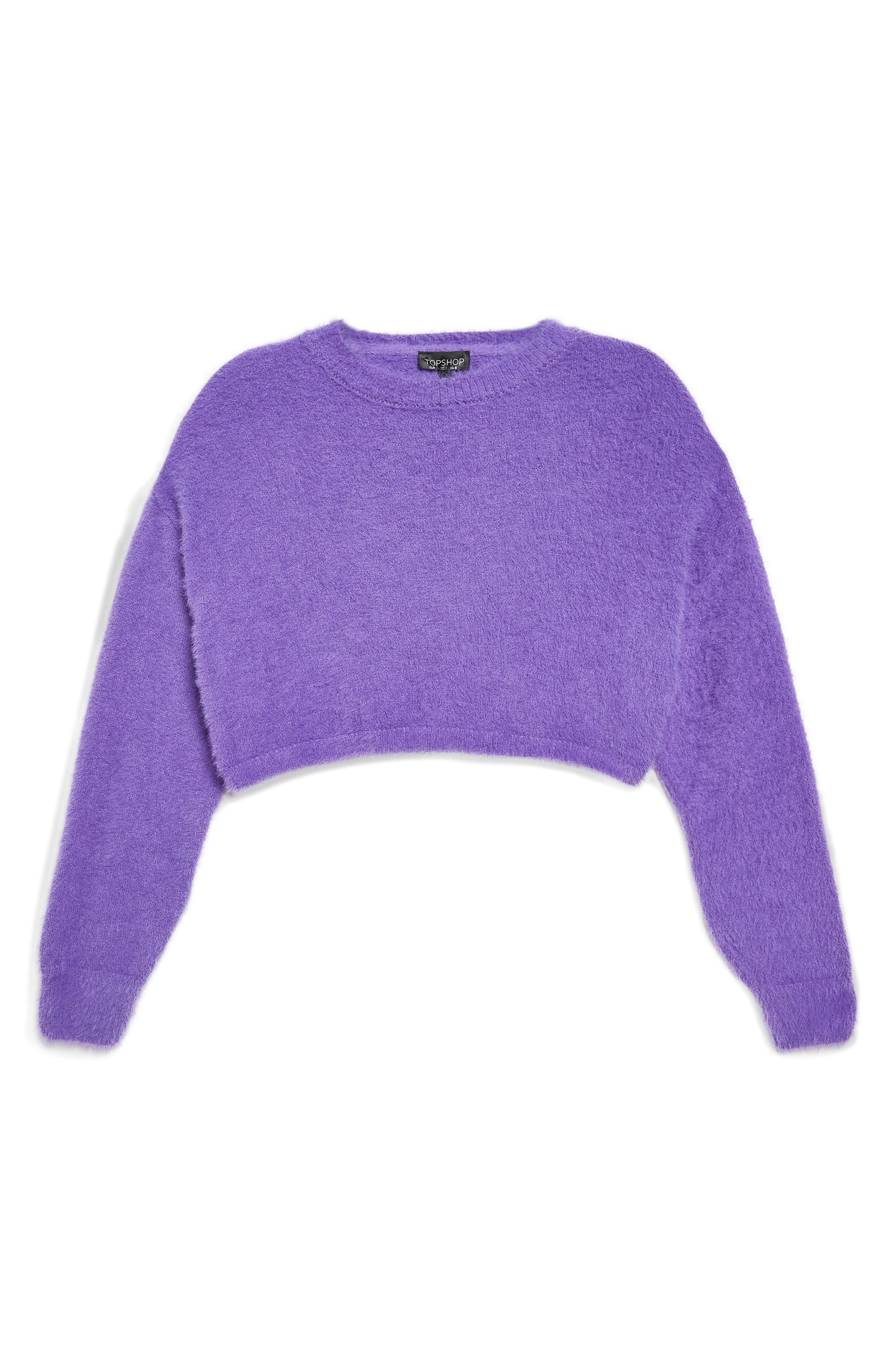 Fluffy Crop Sweater,                             Alternate thumbnail 5, color,                             500