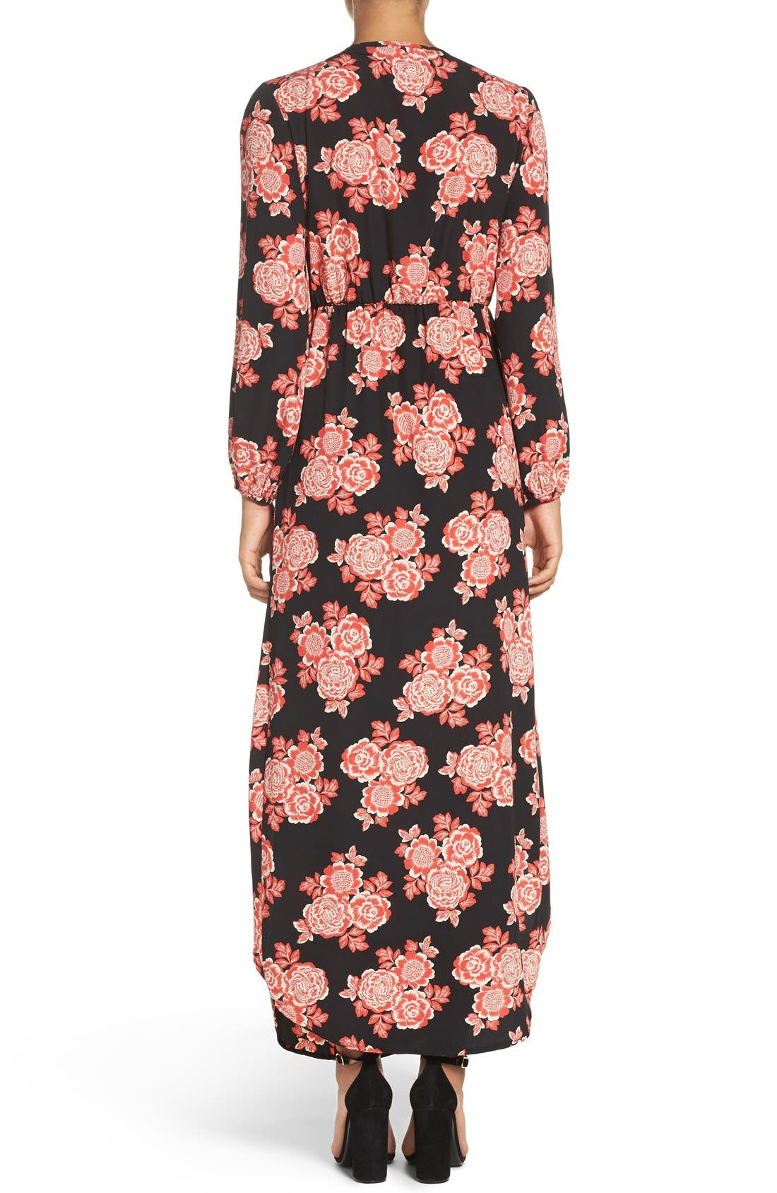Floral Maxi Dress,                             Alternate thumbnail 2, color,