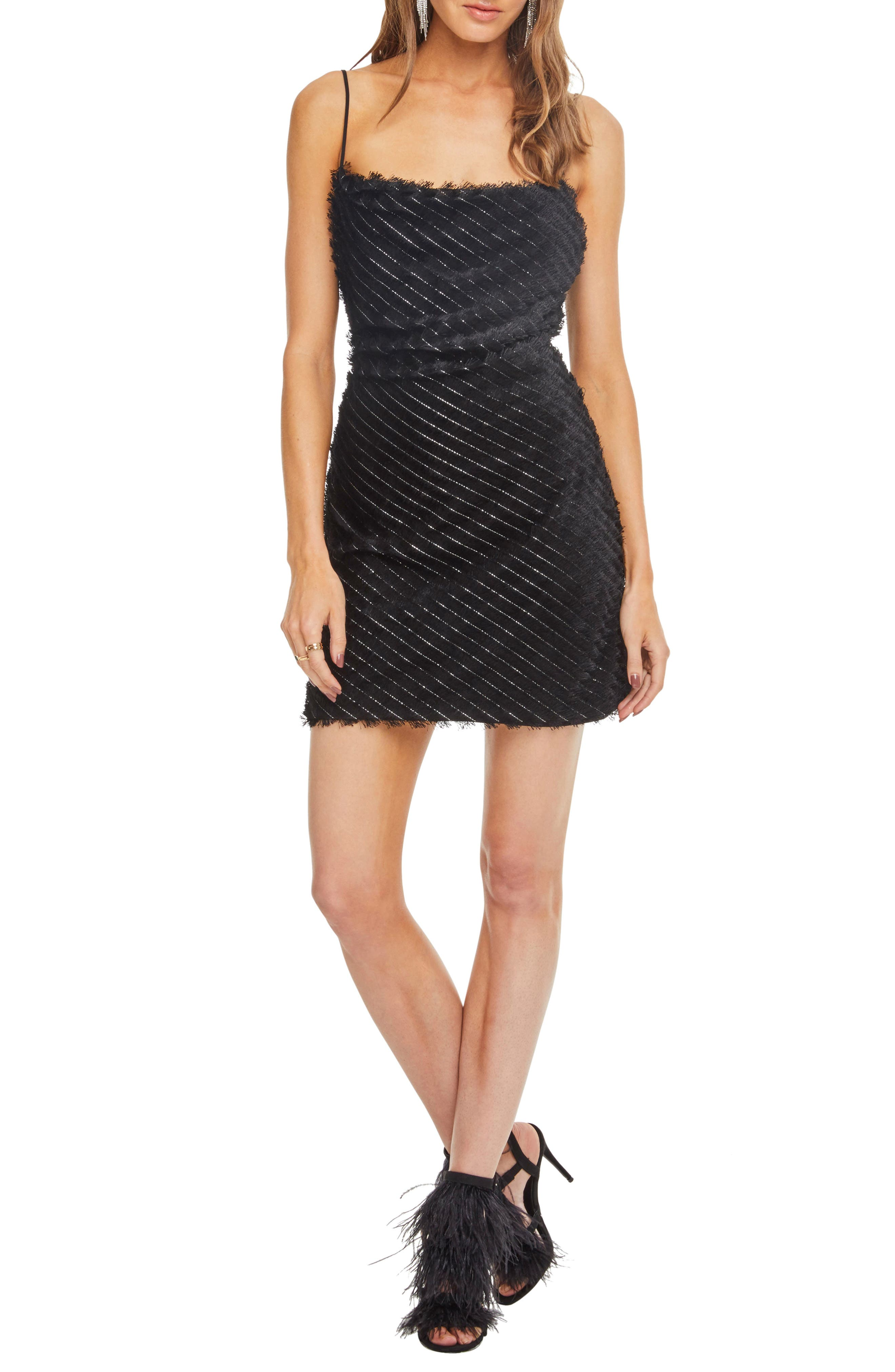 Astr The Label Cha Cha Minidress, Black