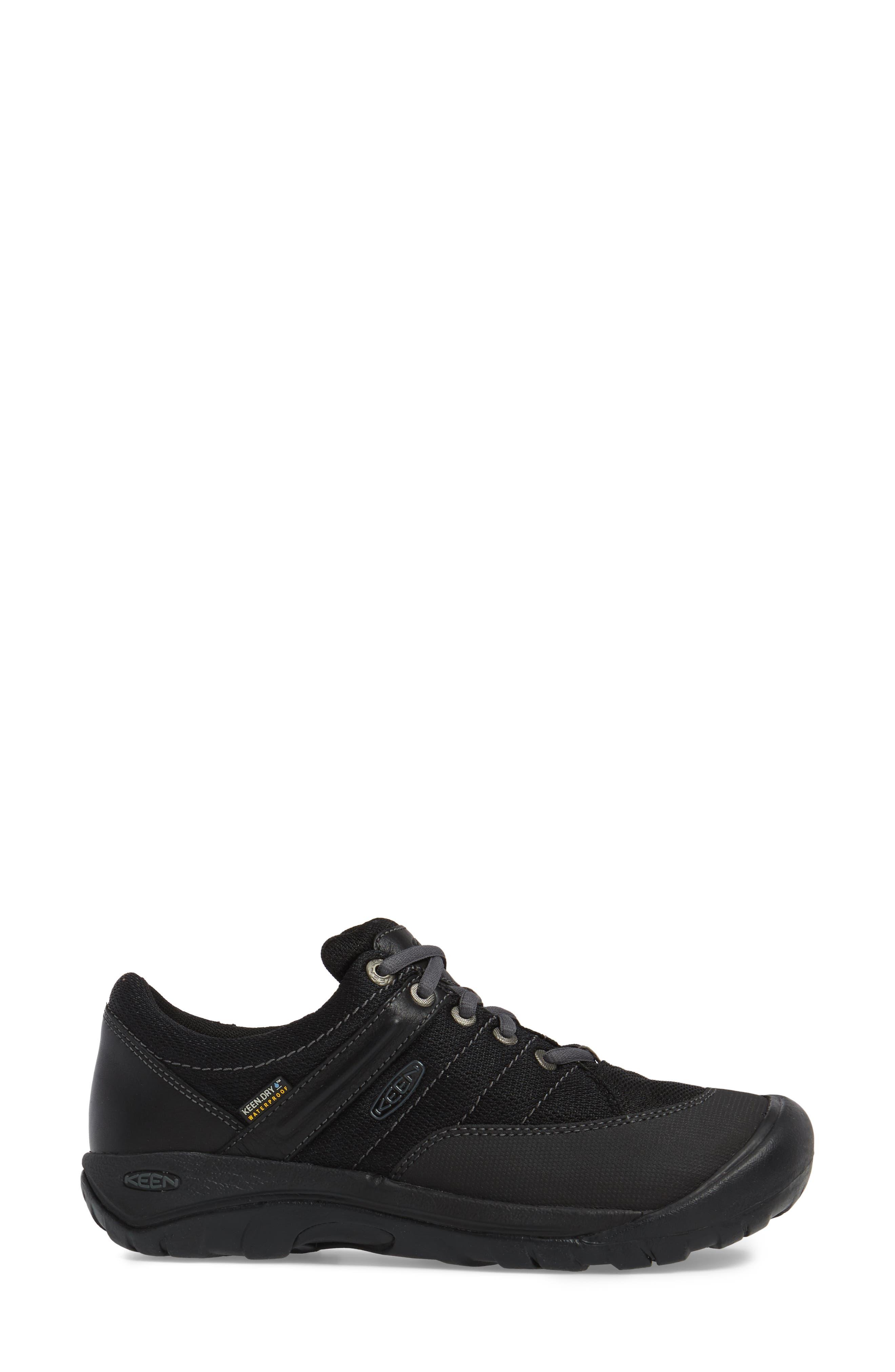Presidio Waterproof Sport Sneaker,                             Alternate thumbnail 3, color,                             BLACK LEATHER
