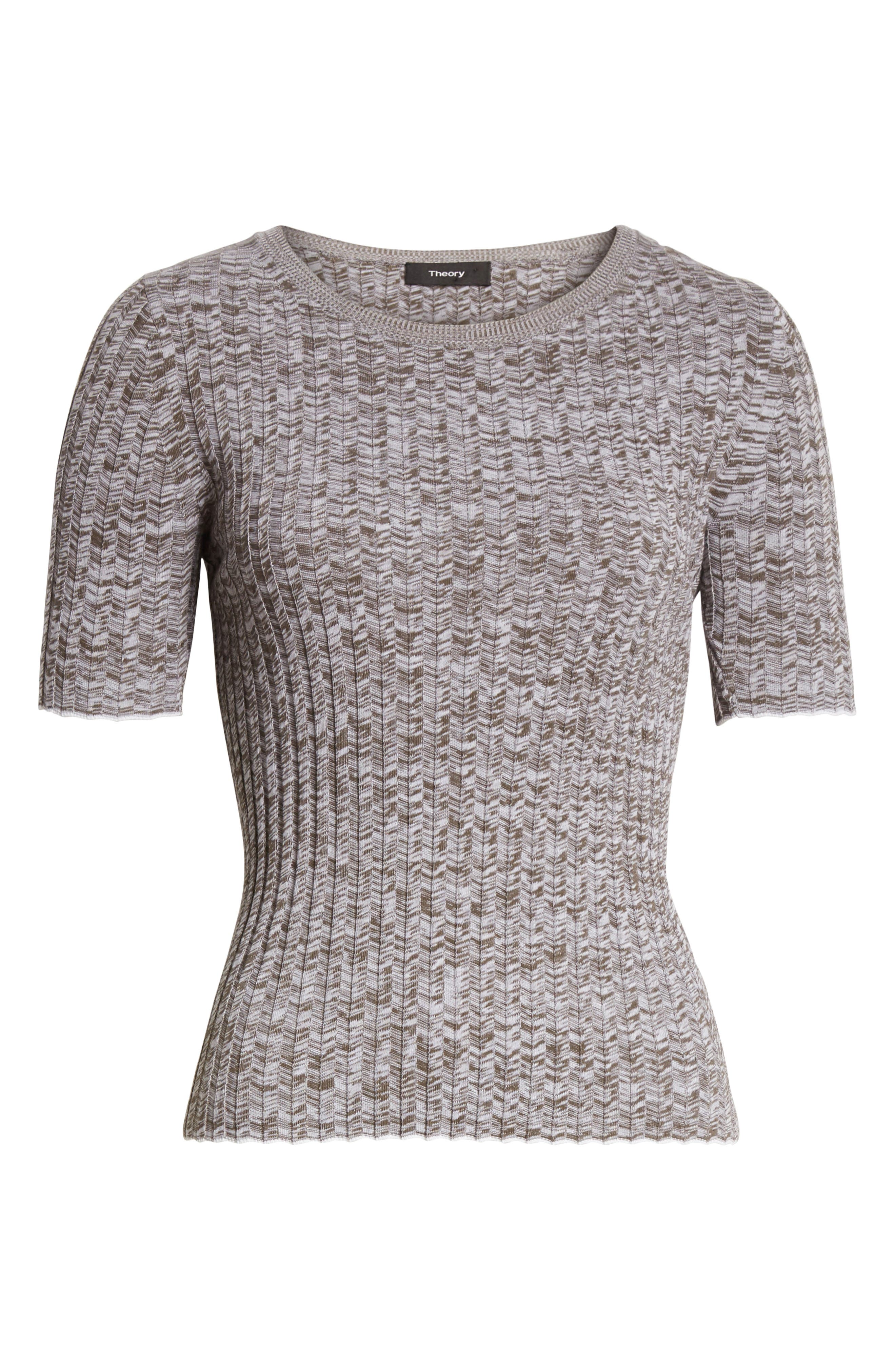 Marled Rib Knit Crewneck Sweater,                             Alternate thumbnail 6, color,                             197
