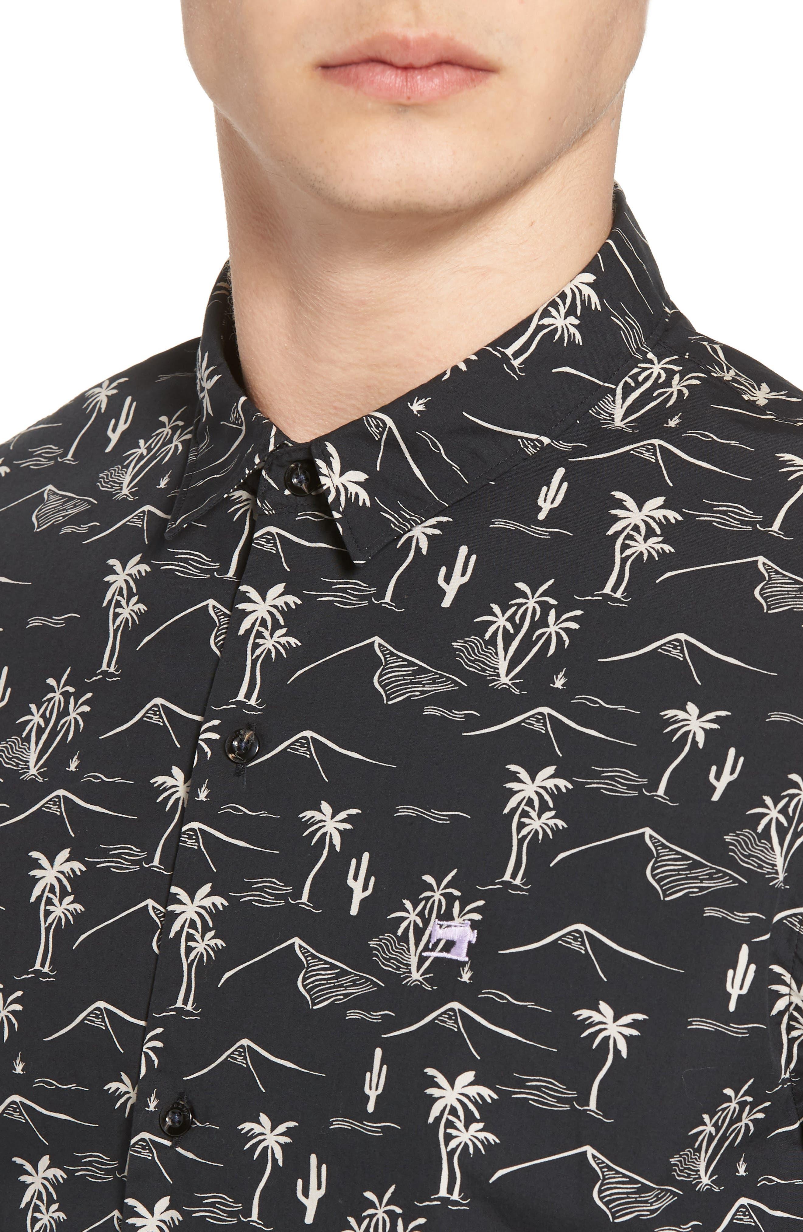 Poolside Woven Shirt,                             Alternate thumbnail 4, color,                             COMBO C