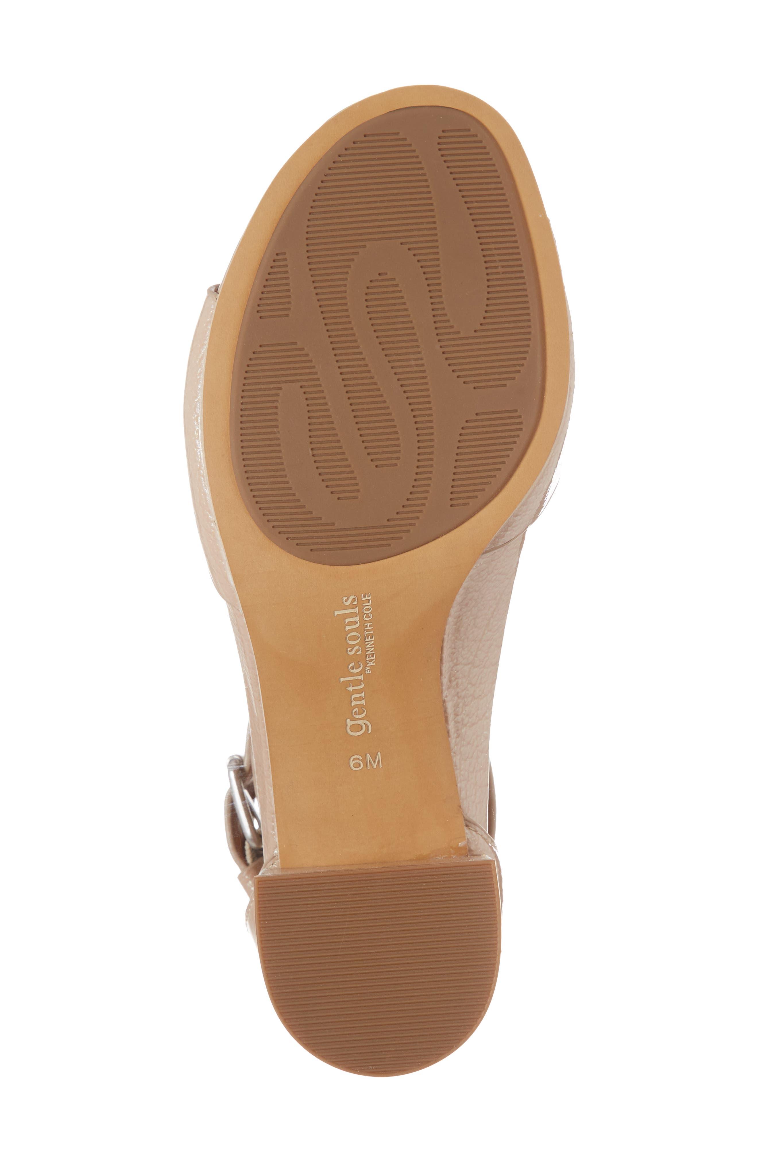 Christa Block Heel Sandal,                             Alternate thumbnail 6, color,                             NUDE PATENT LEATHER
