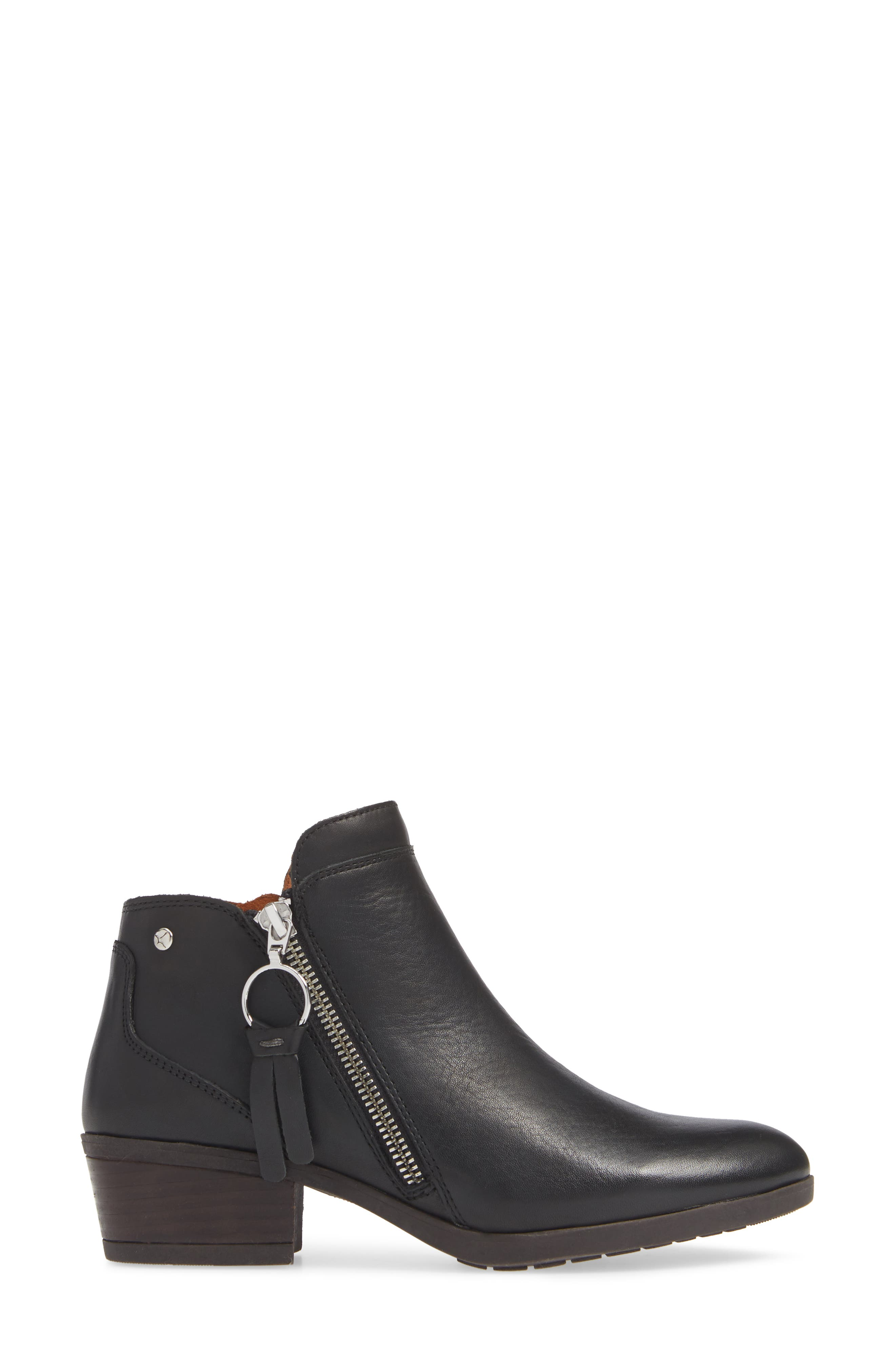 Daroca Bootie,                             Alternate thumbnail 3, color,                             BLACK LEATHER