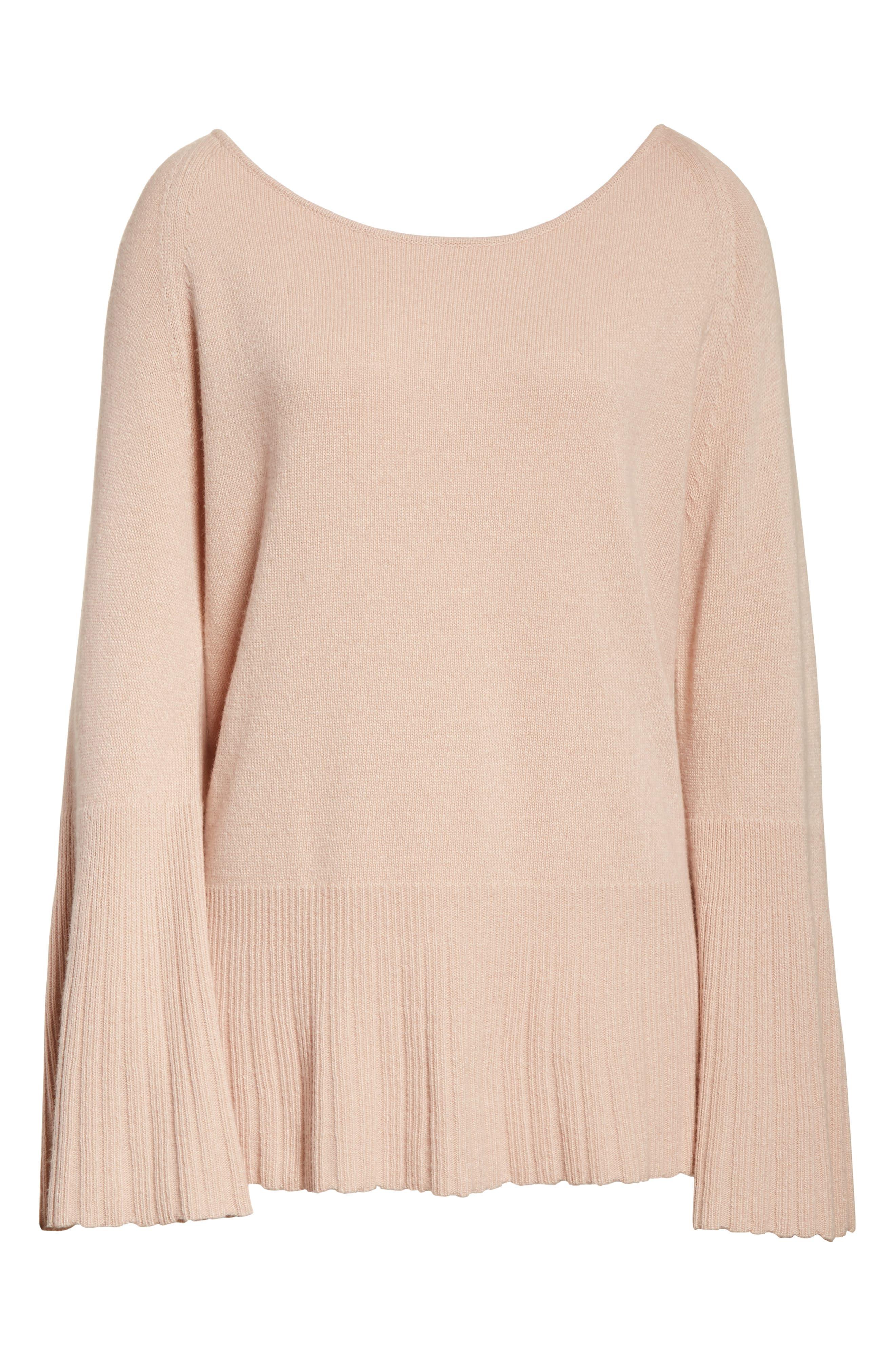 Clarette Bell Sleeve Sweater,                             Alternate thumbnail 6, color,                             650