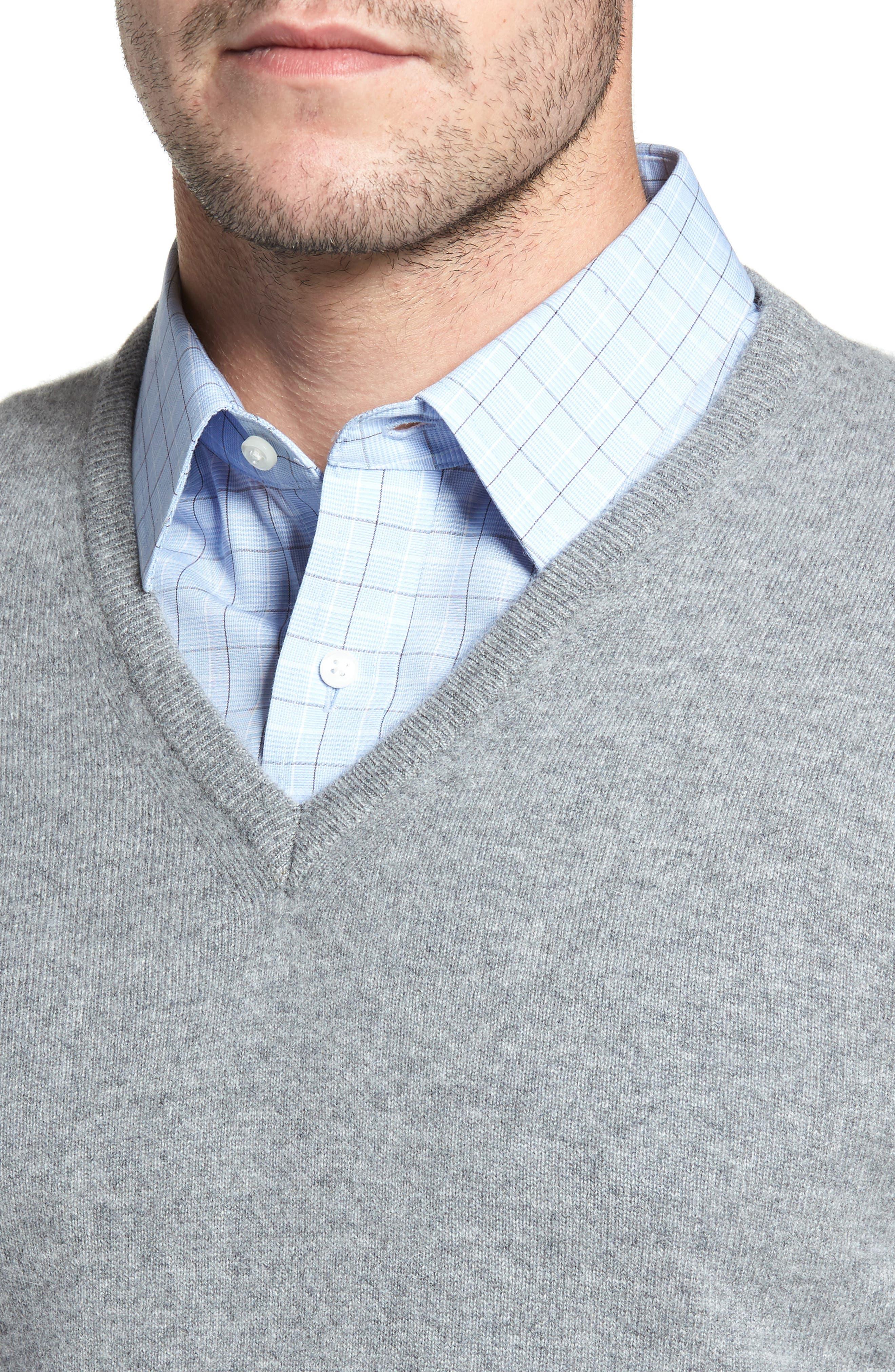 Cashmere V-Neck Sweater,                             Alternate thumbnail 20, color,