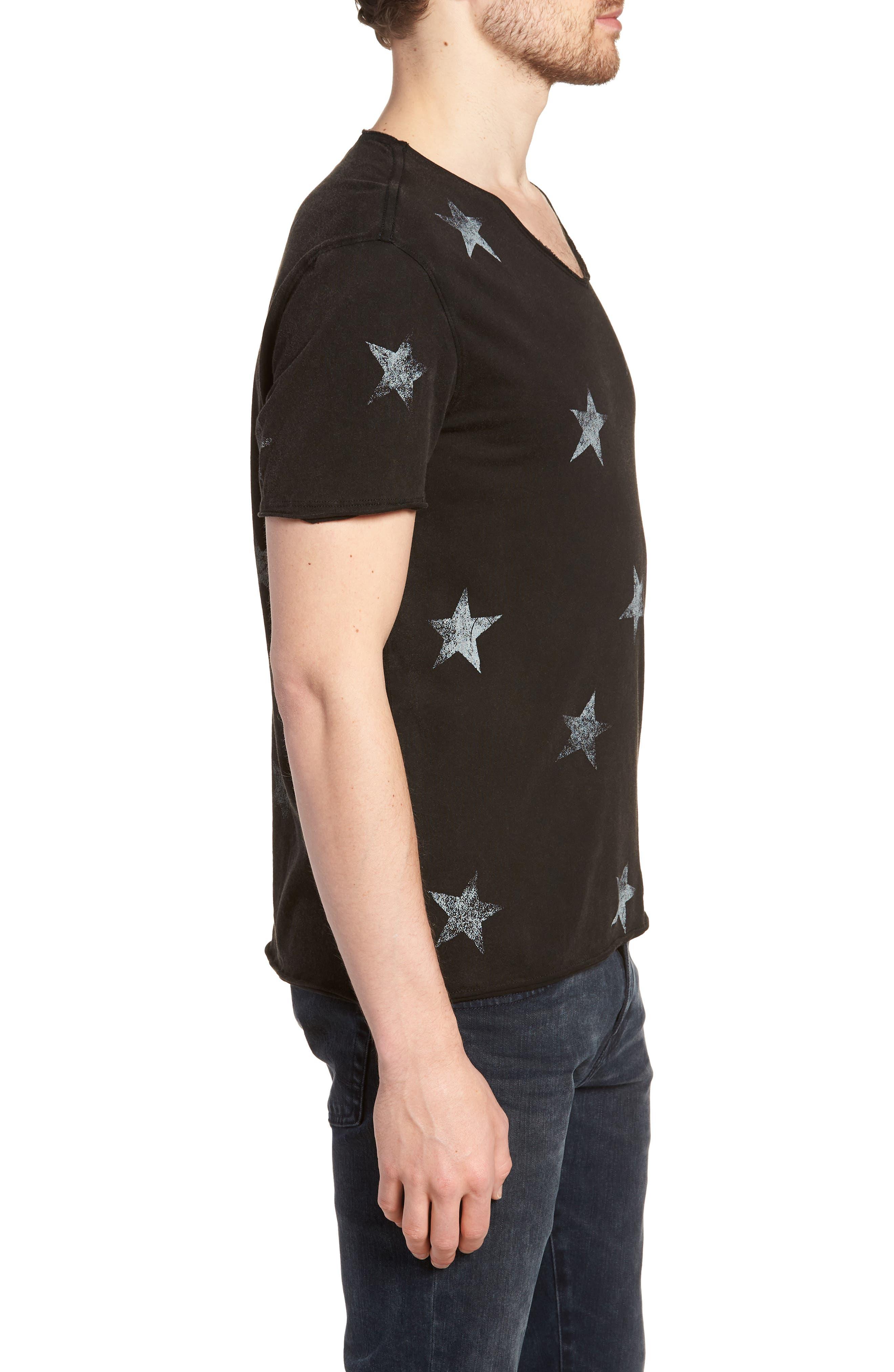 Regular Fit Crewneck T-Shirt,                             Alternate thumbnail 3, color,                             001
