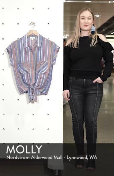 Stripe Tie Front Shirt, sales video thumbnail