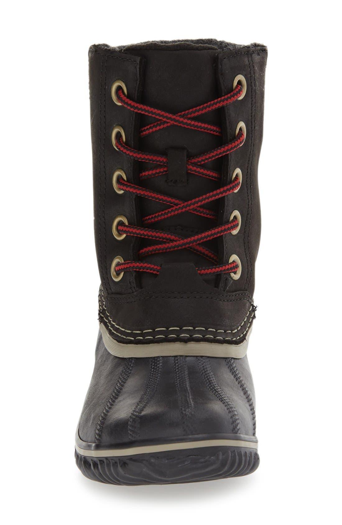 SOREL,                             Slimpack II Waterproof Boot,                             Alternate thumbnail 3, color,                             BLACK